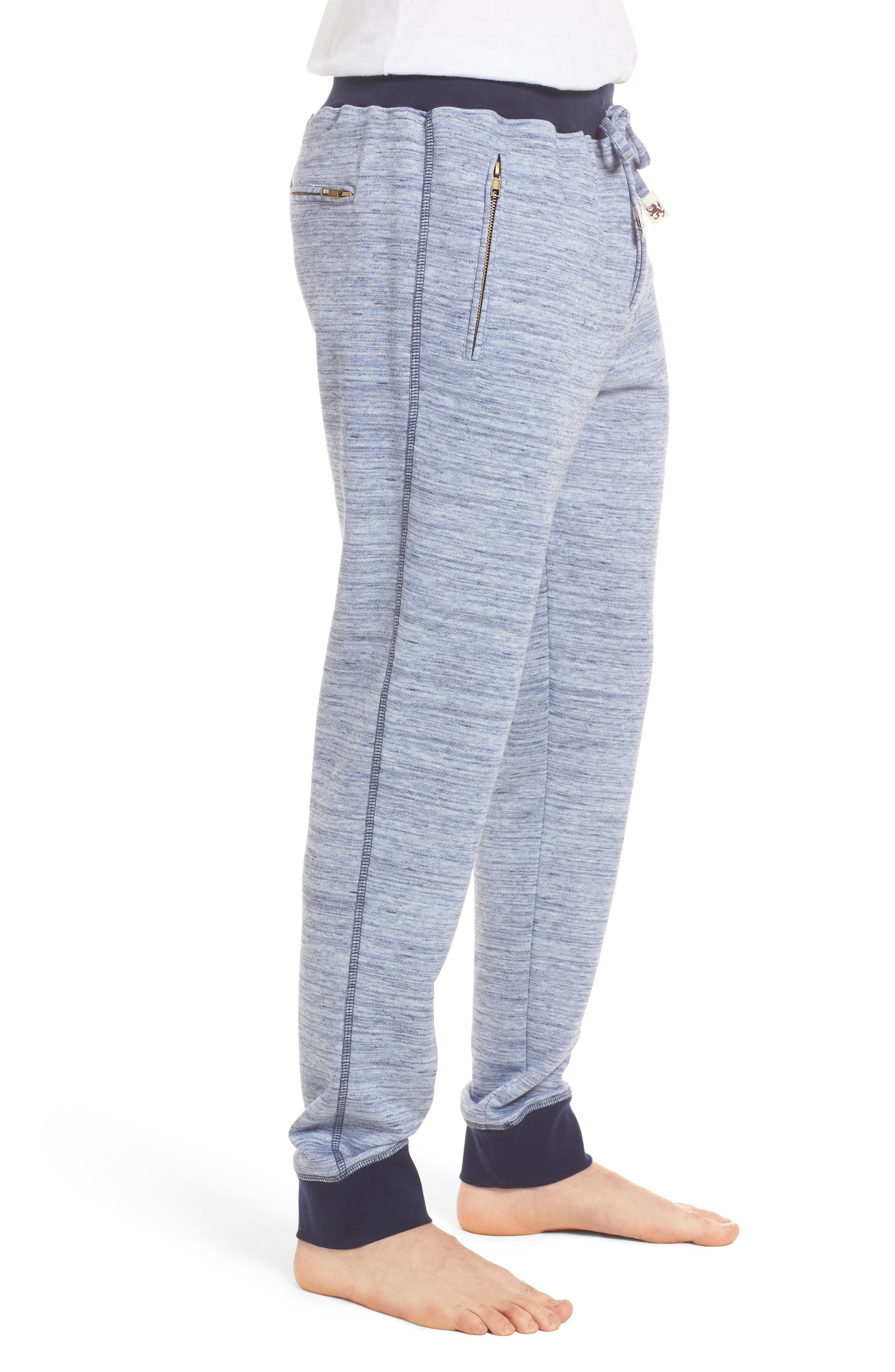 Swept In Waves Lounge Pants,                             Alternate thumbnail 3, color,                             Alfresco French Terry