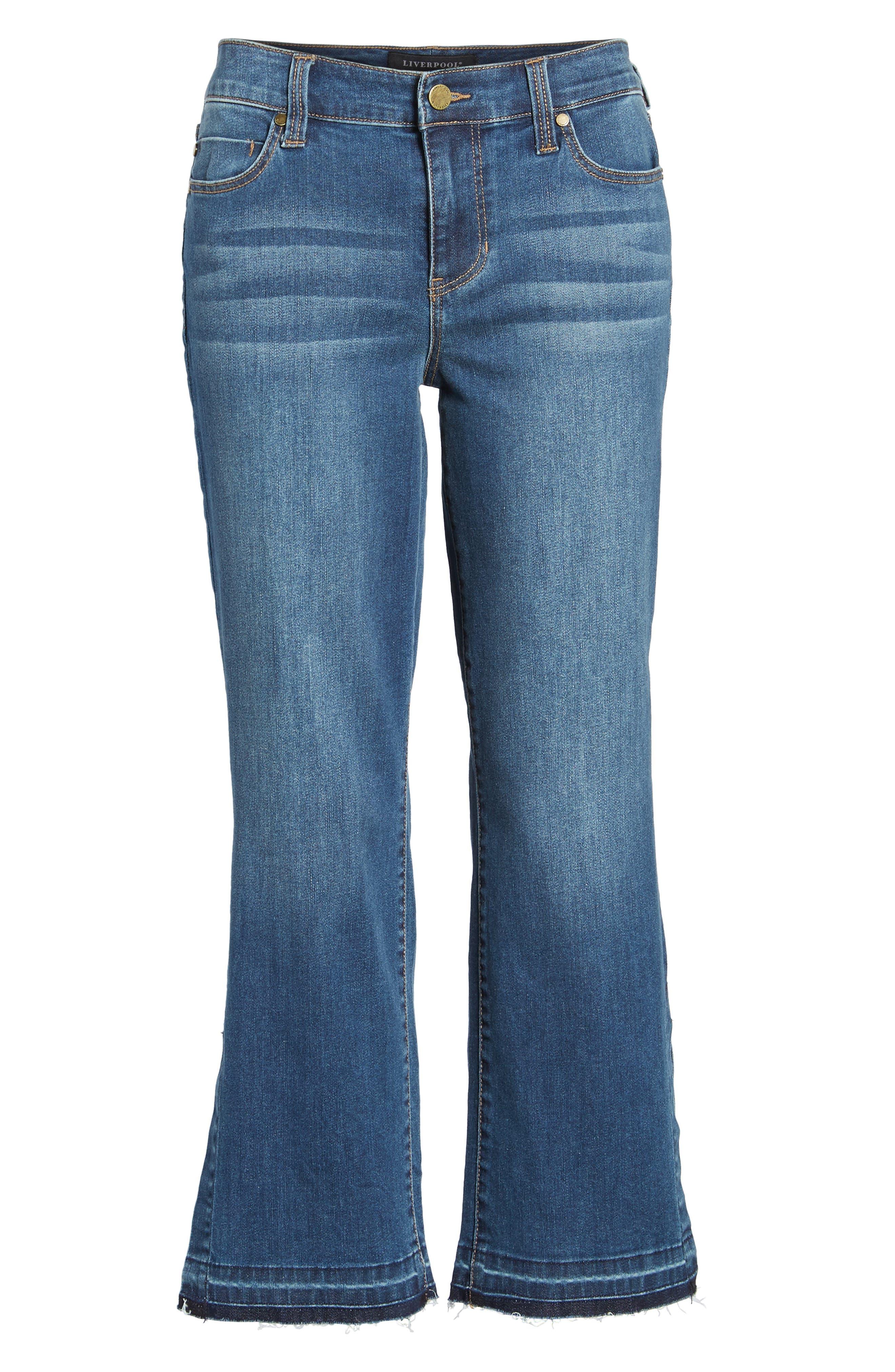 Tabitha Release Hem Crop Jeans,                             Alternate thumbnail 6, color,                             Montauk Mid Blue