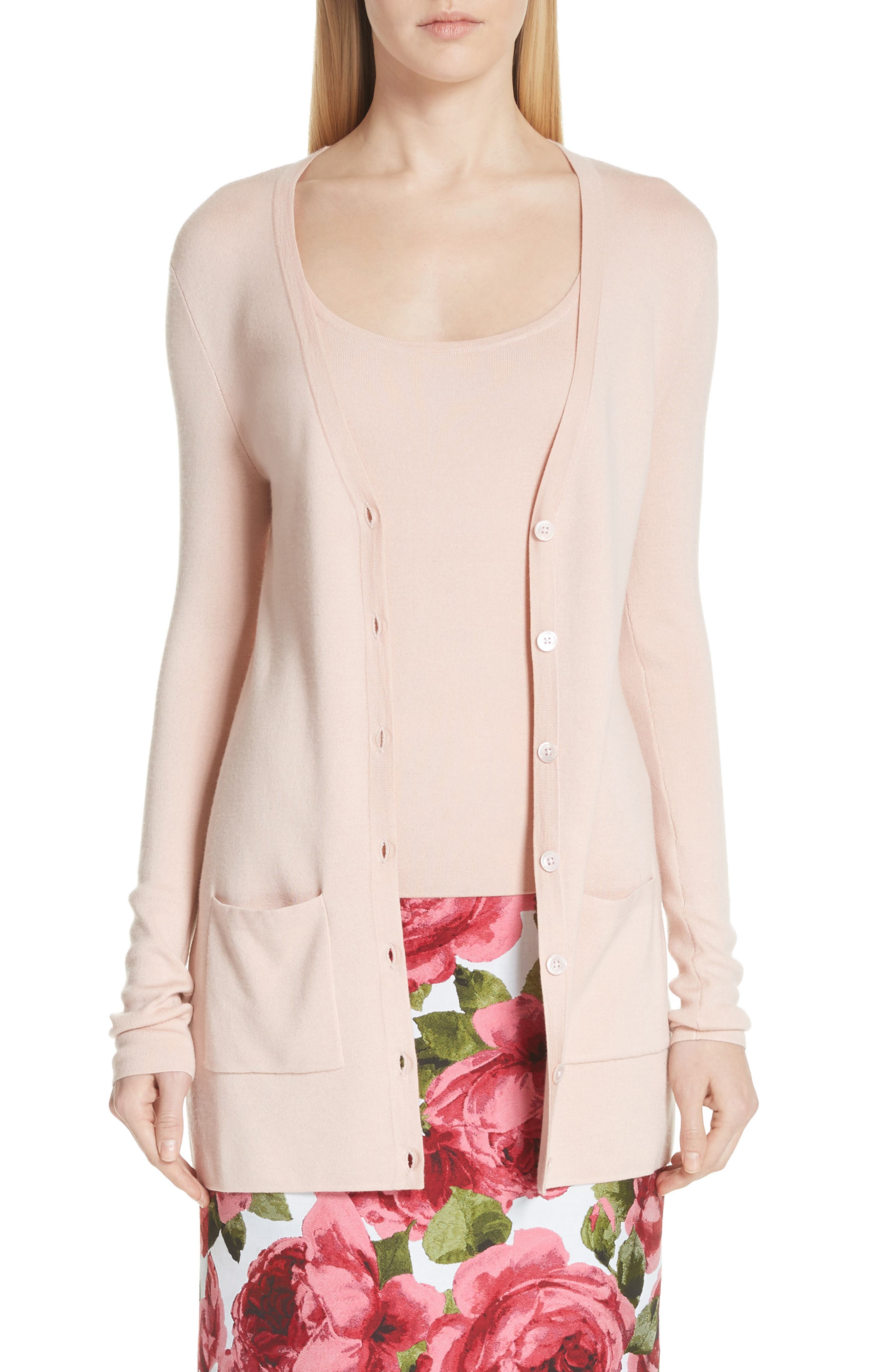 Michael Kors Featherweight Tropical Long Cardigan