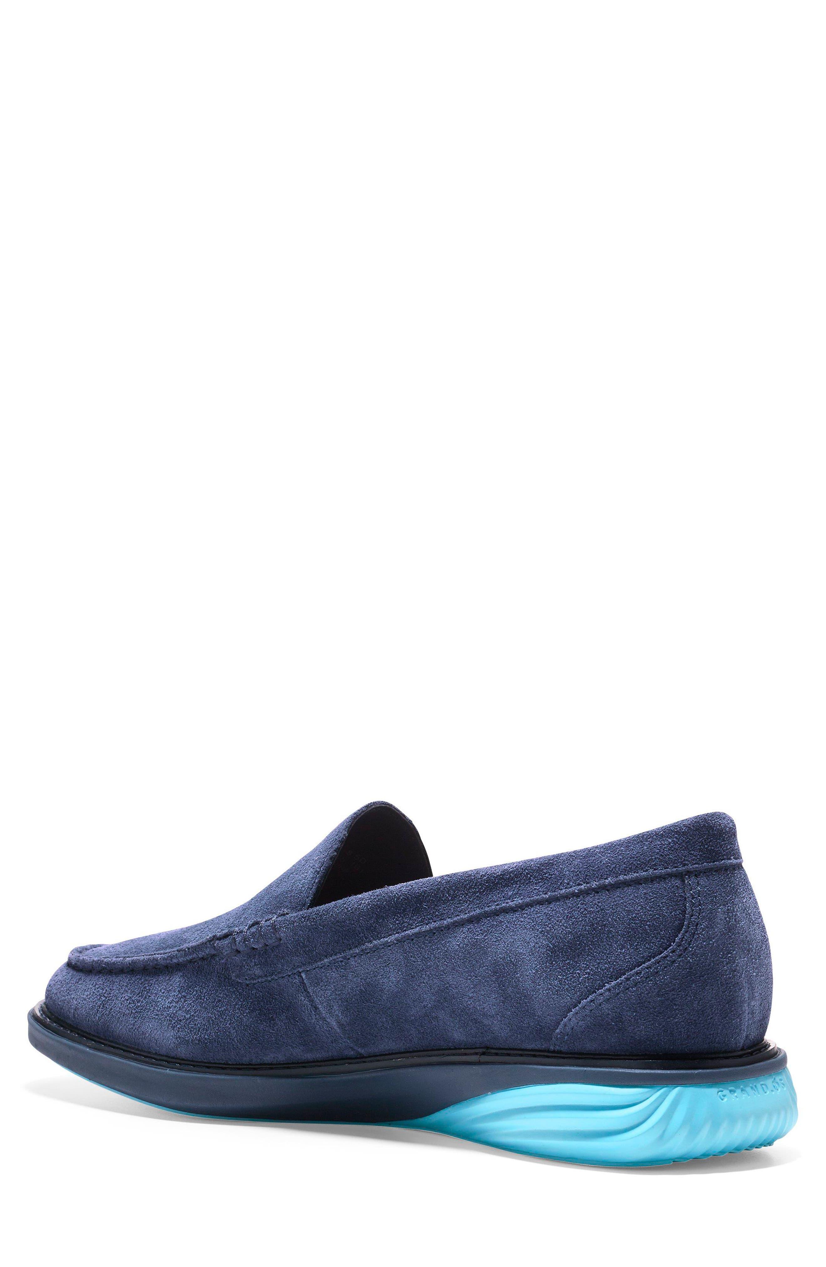 GrandEvølution Venetian Loafer,                             Alternate thumbnail 2, color,                             Marine Blue Suede