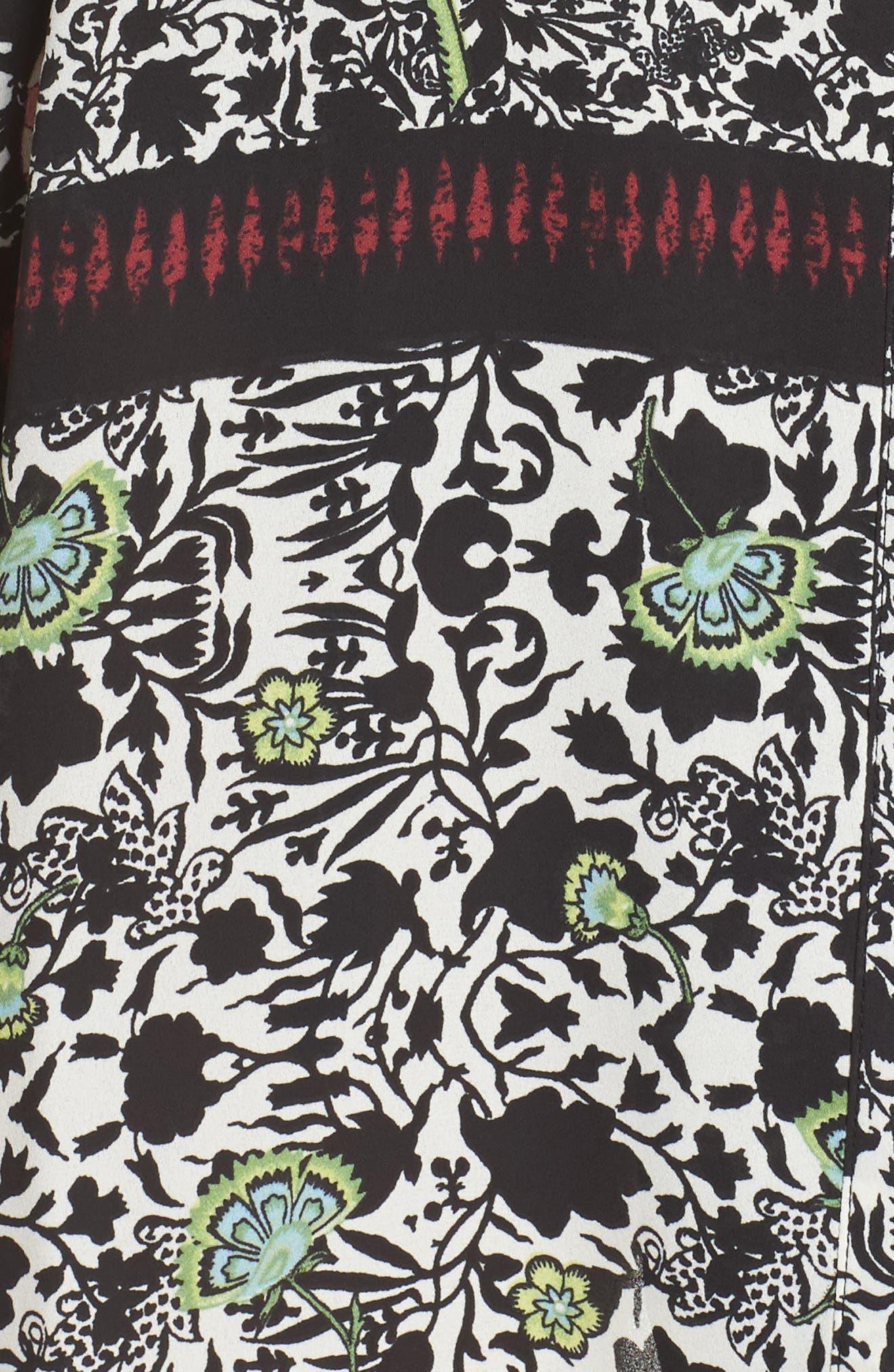 Dillon Short Robe,                             Alternate thumbnail 6, color,                             Black