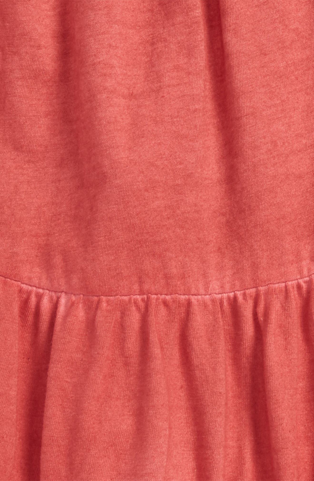 Organic Cotton Tiered Dress,                             Alternate thumbnail 2, color,                             Red Barn