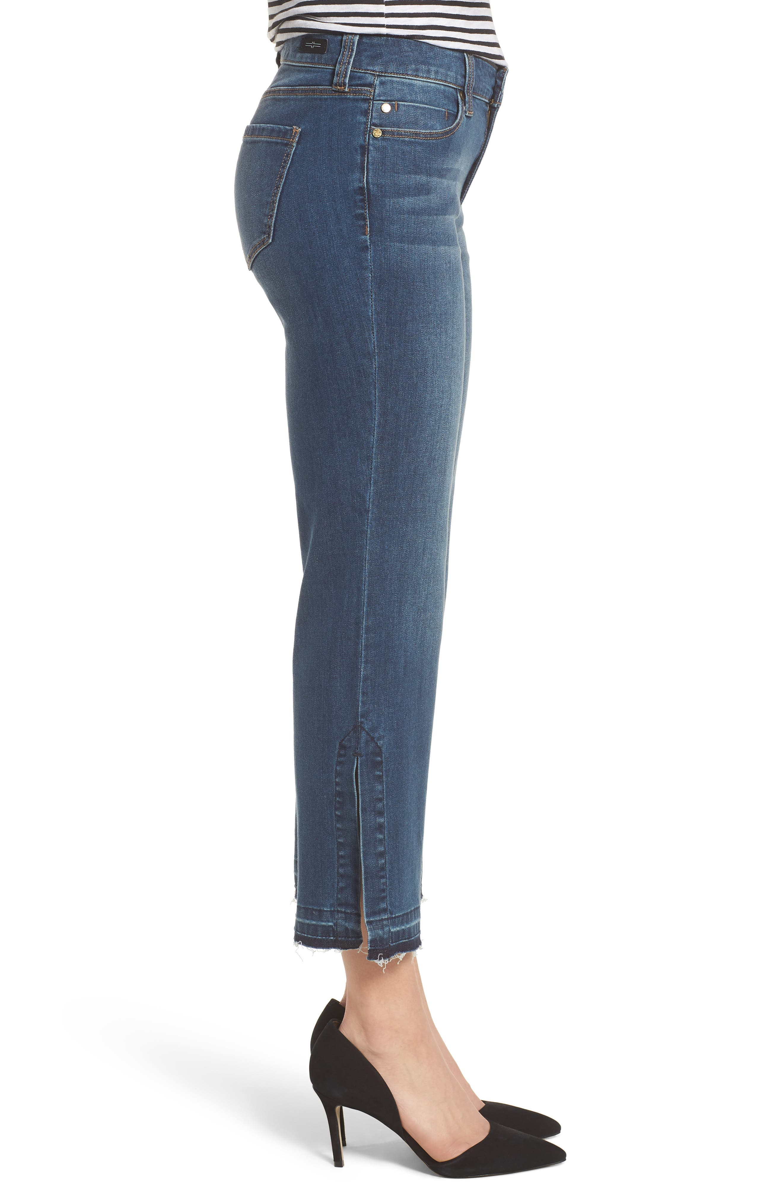 Tabitha Release Hem Crop Jeans,                             Alternate thumbnail 3, color,                             Montauk Mid Blue
