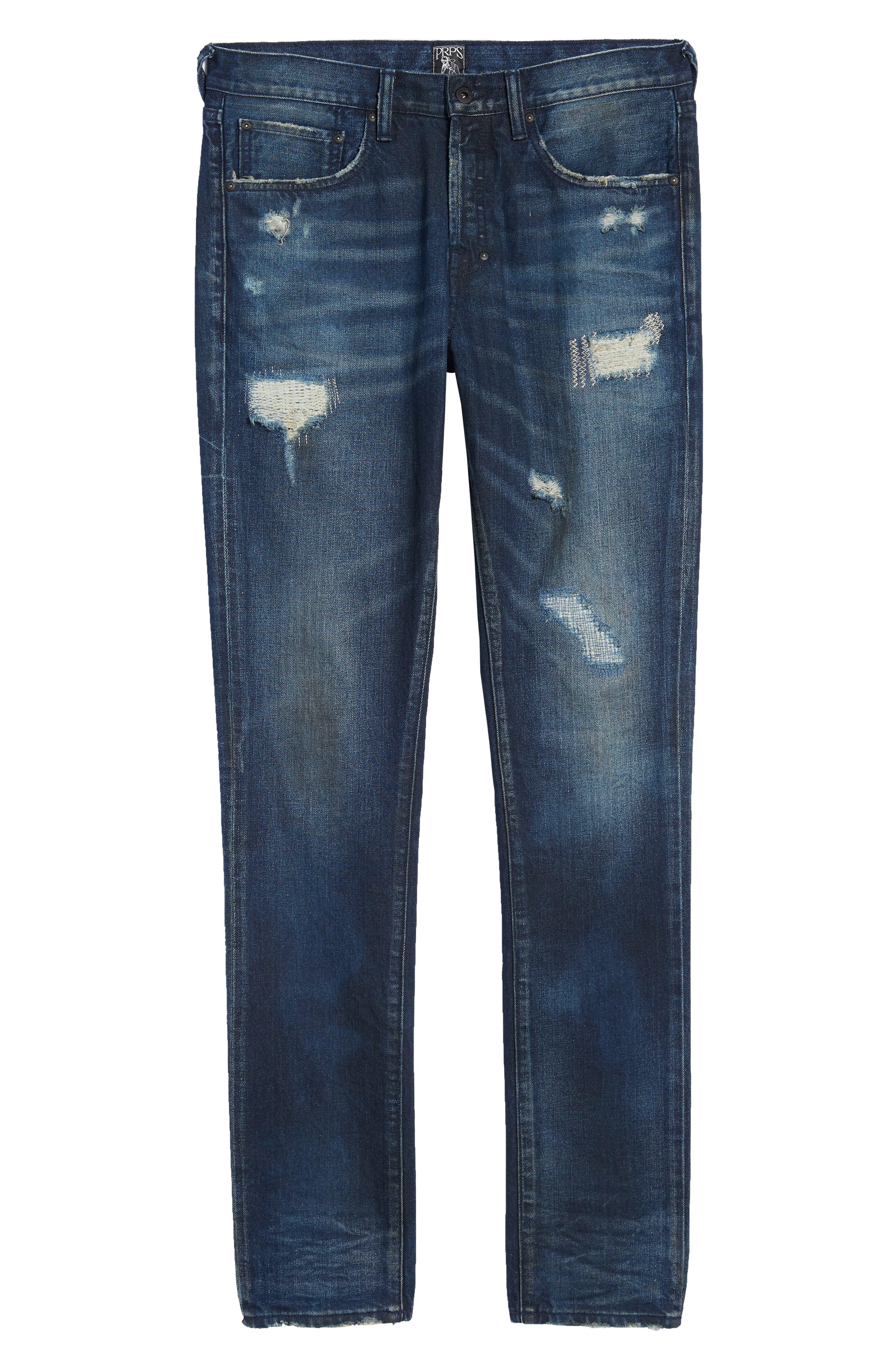 Denim Slim Straight Leg Jeans,                             Alternate thumbnail 6, color,                             Impact