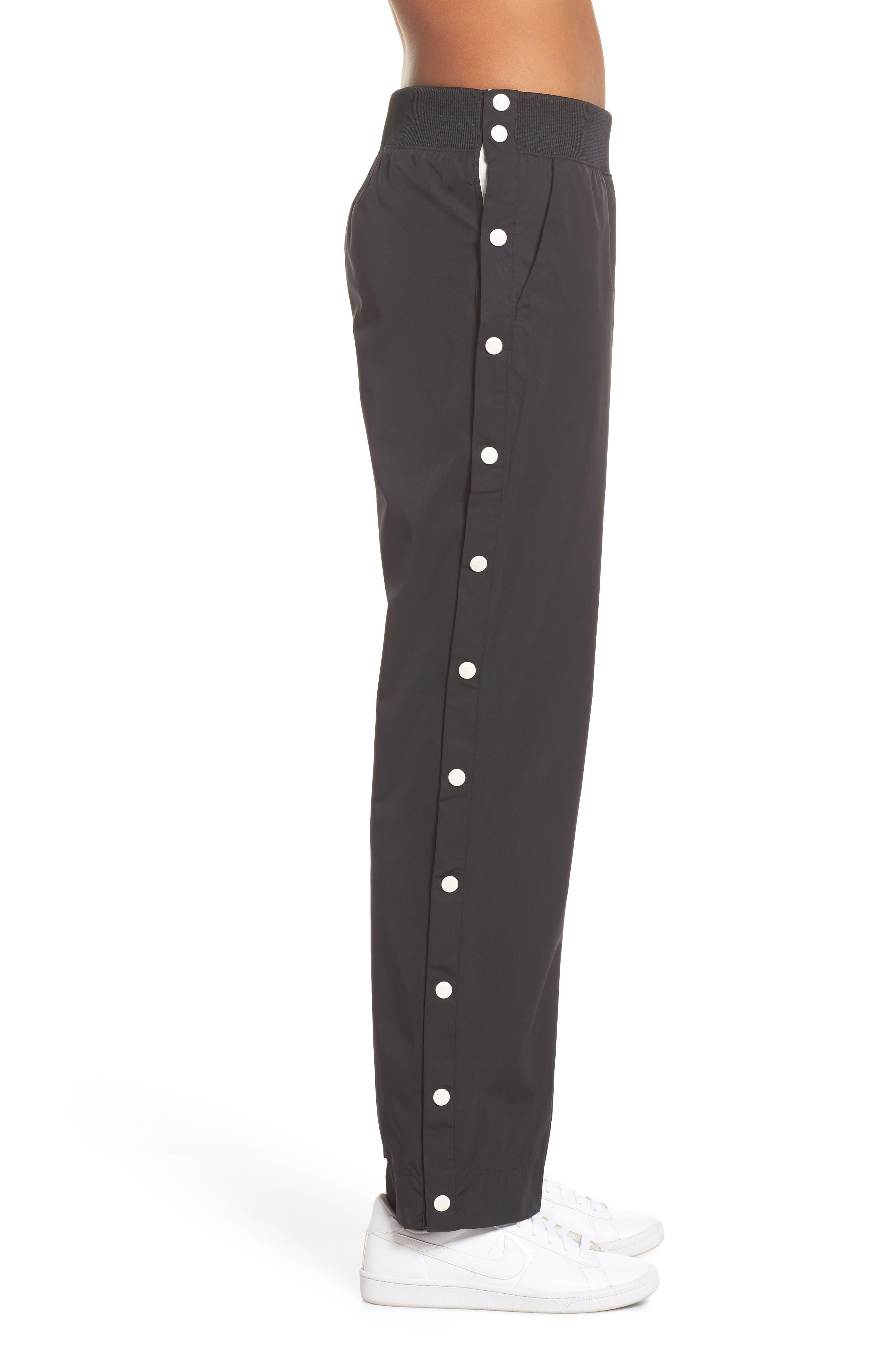 Sportswear Archive Snap Track Pants,                             Alternate thumbnail 3, color,                             Black/ Sail