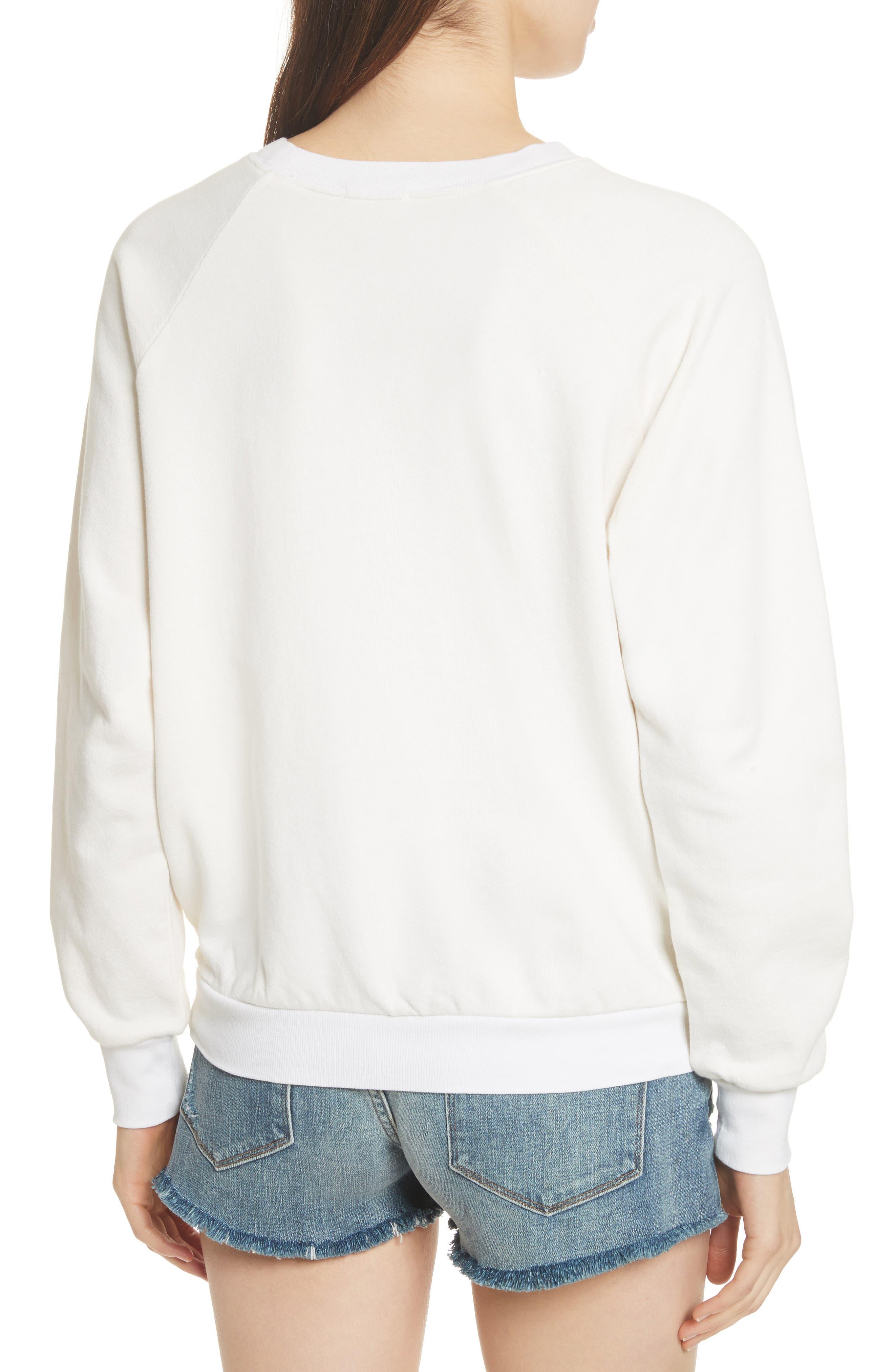 Logo Sweatshirt,                             Alternate thumbnail 3, color,                             Off White