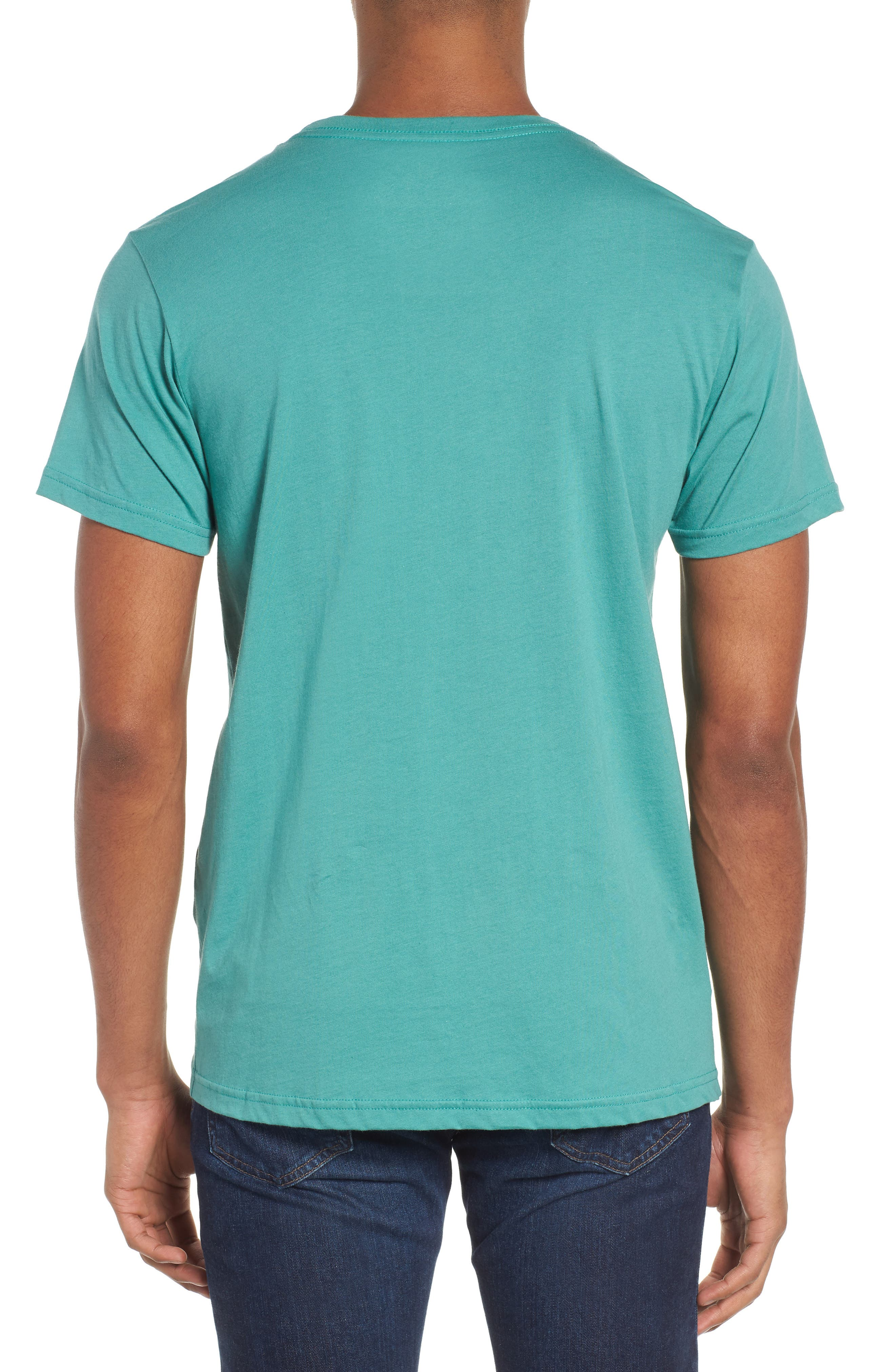 Up & Out Graphic Organic Cotton T-Shirt,                             Alternate thumbnail 2, color,                             Beryl Green