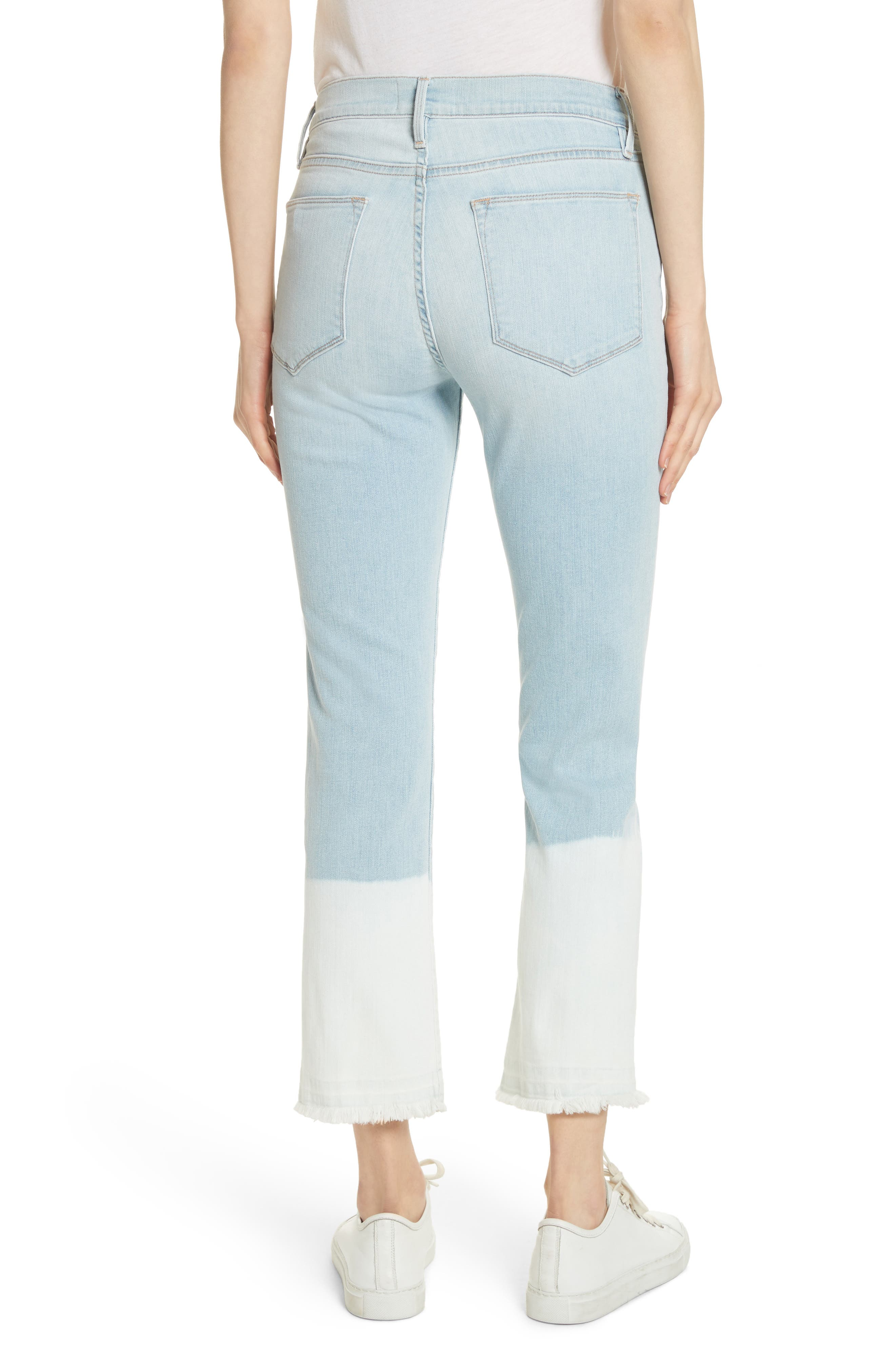 Le High Crop Straight Leg Jeans,                             Alternate thumbnail 3, color,                             Finchley
