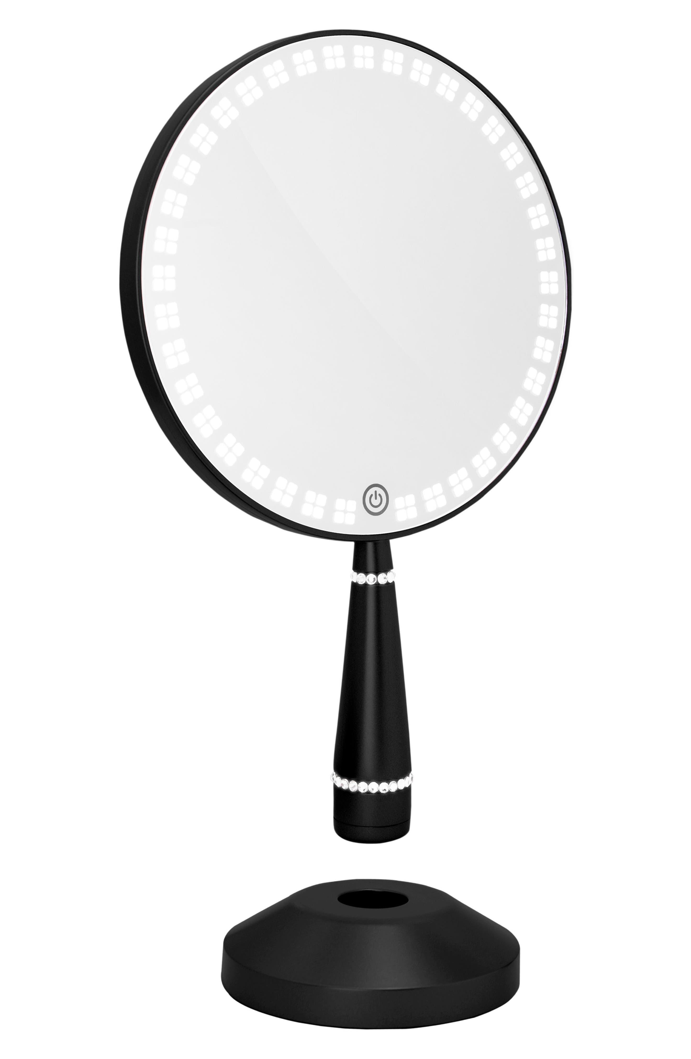 Bijou LED Hand Mirror,                             Alternate thumbnail 3, color,                             Black