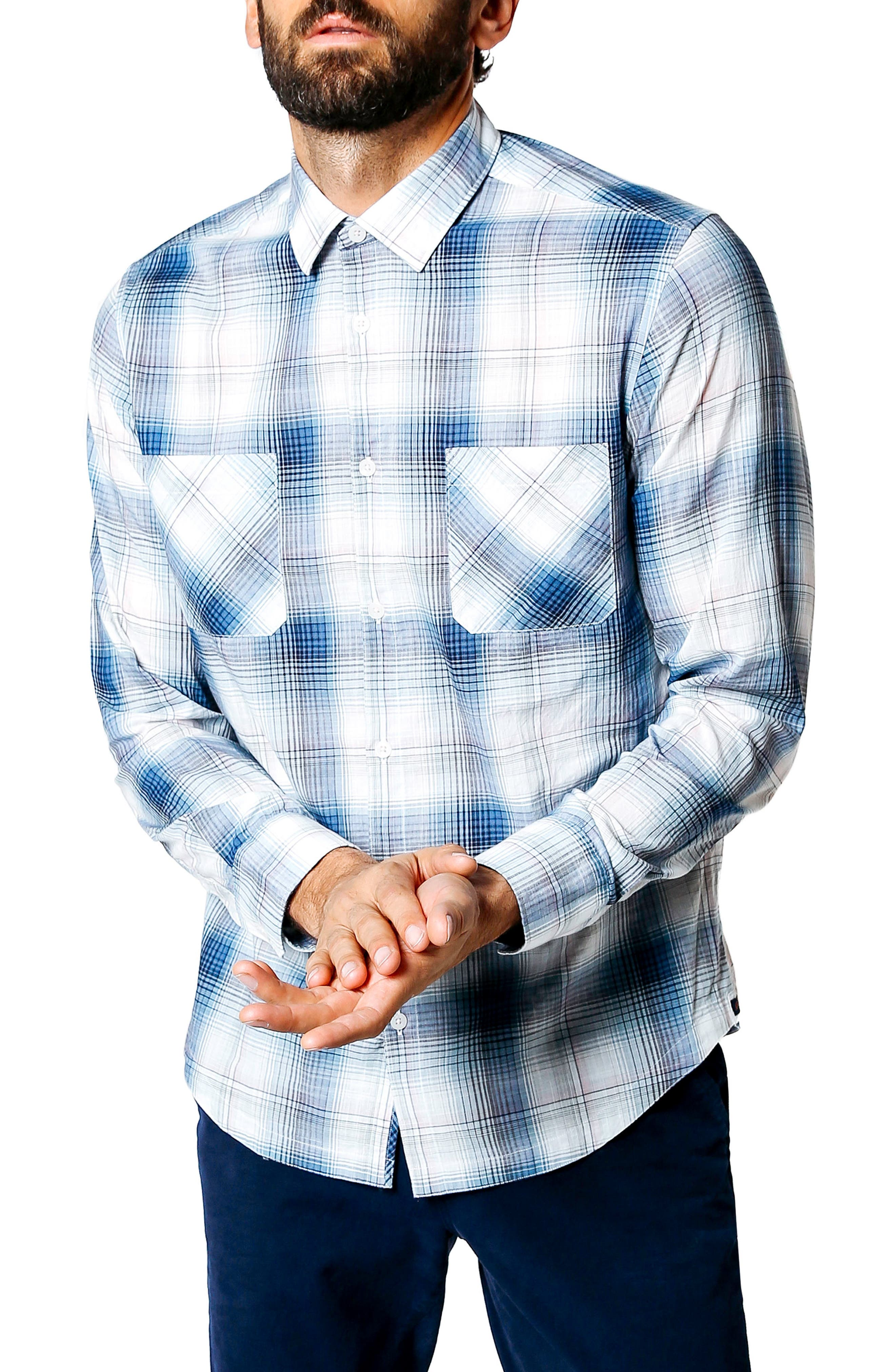 Main Image - Good Man Brand Trim Fit Plaid Sport Shirt