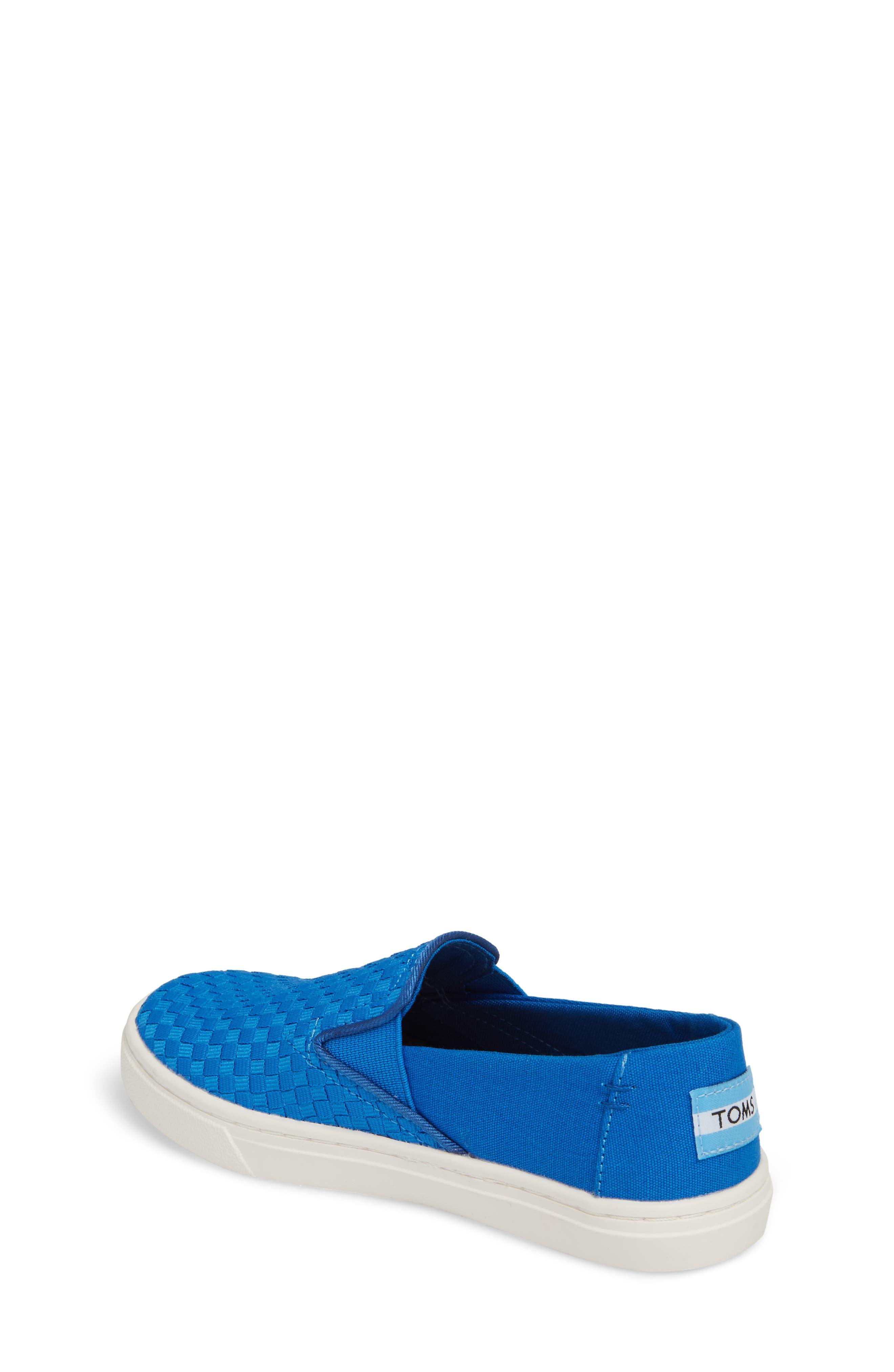 Luca Slip-On Sneaker,                             Alternate thumbnail 2, color,                             Imperial Blue Basketweave