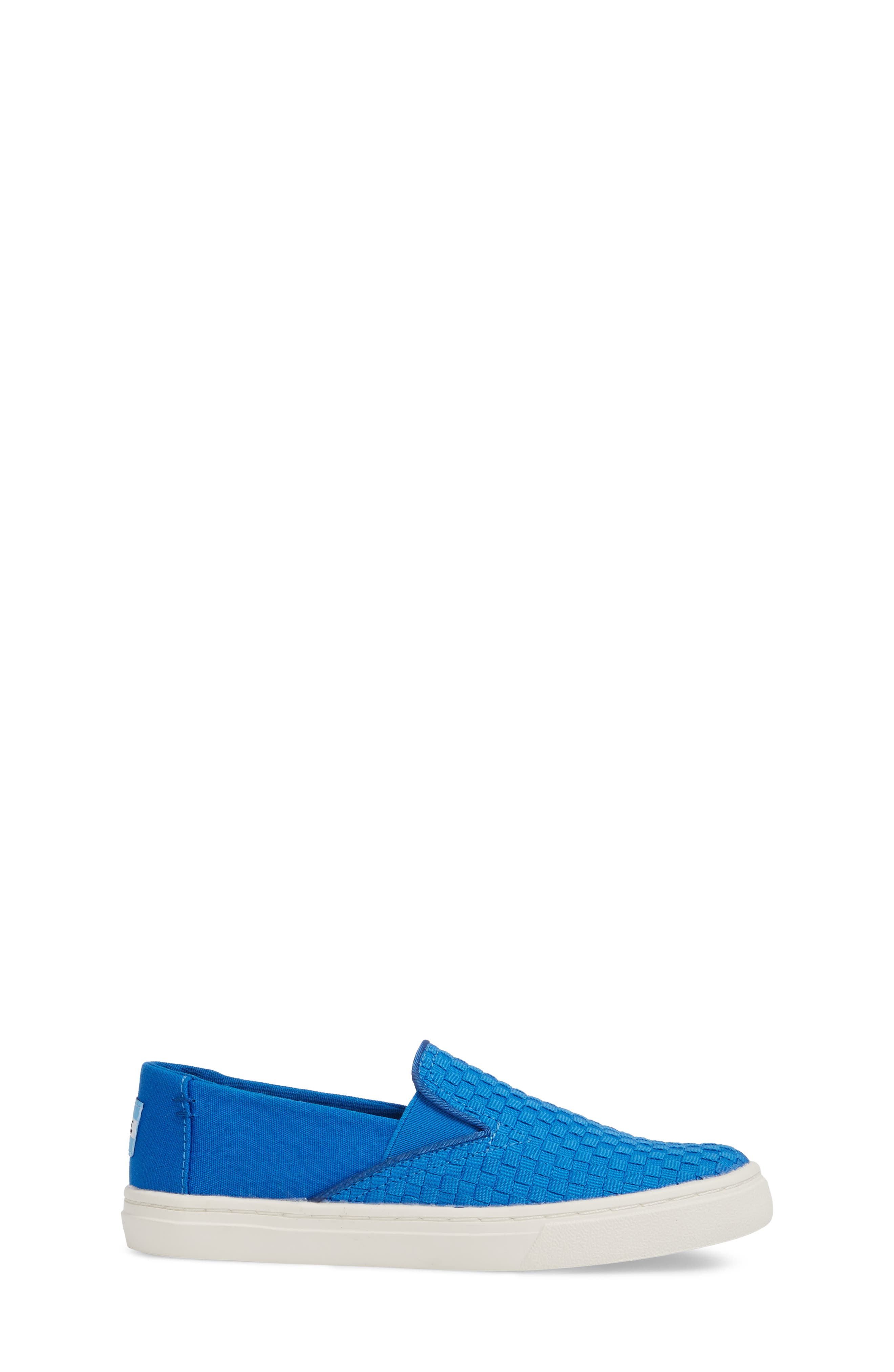 Luca Slip-On Sneaker,                             Alternate thumbnail 3, color,                             Imperial Blue Basketweave