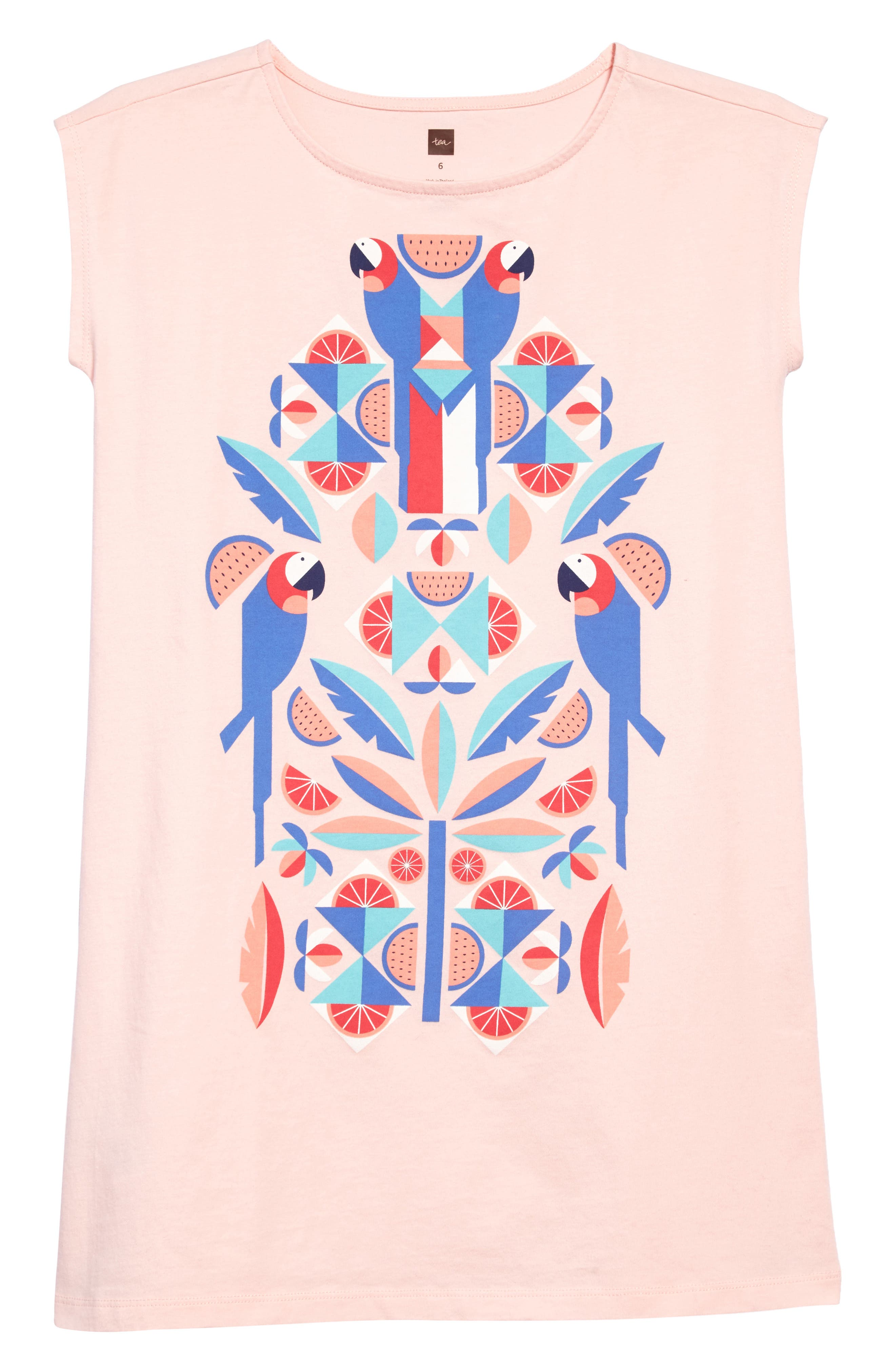 Tropical Birds Graphic Dress,                         Main,                         color, Pink Gloss