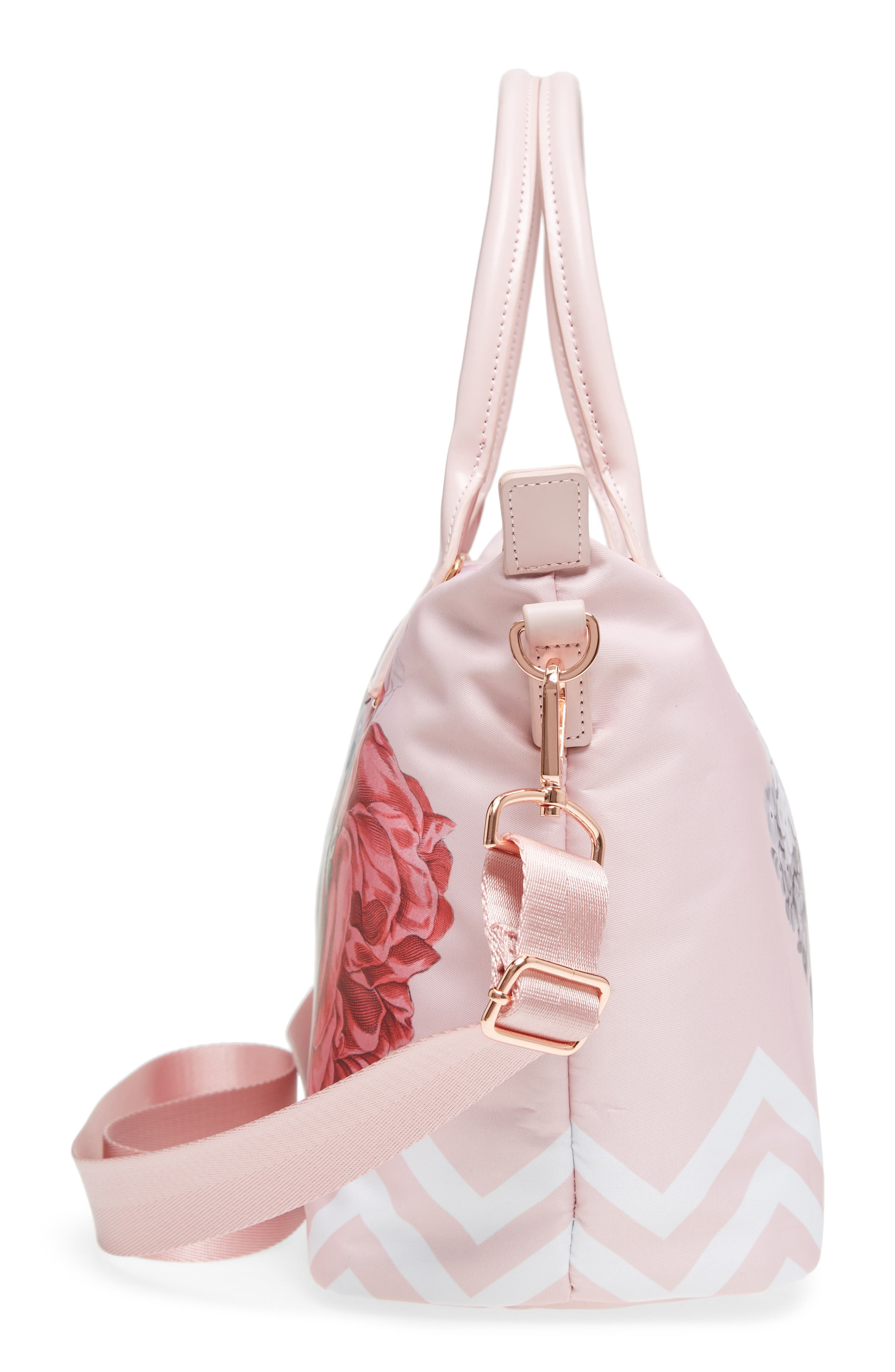Small Palace Gardens Tote,                             Alternate thumbnail 5, color,                             Dusky Pink