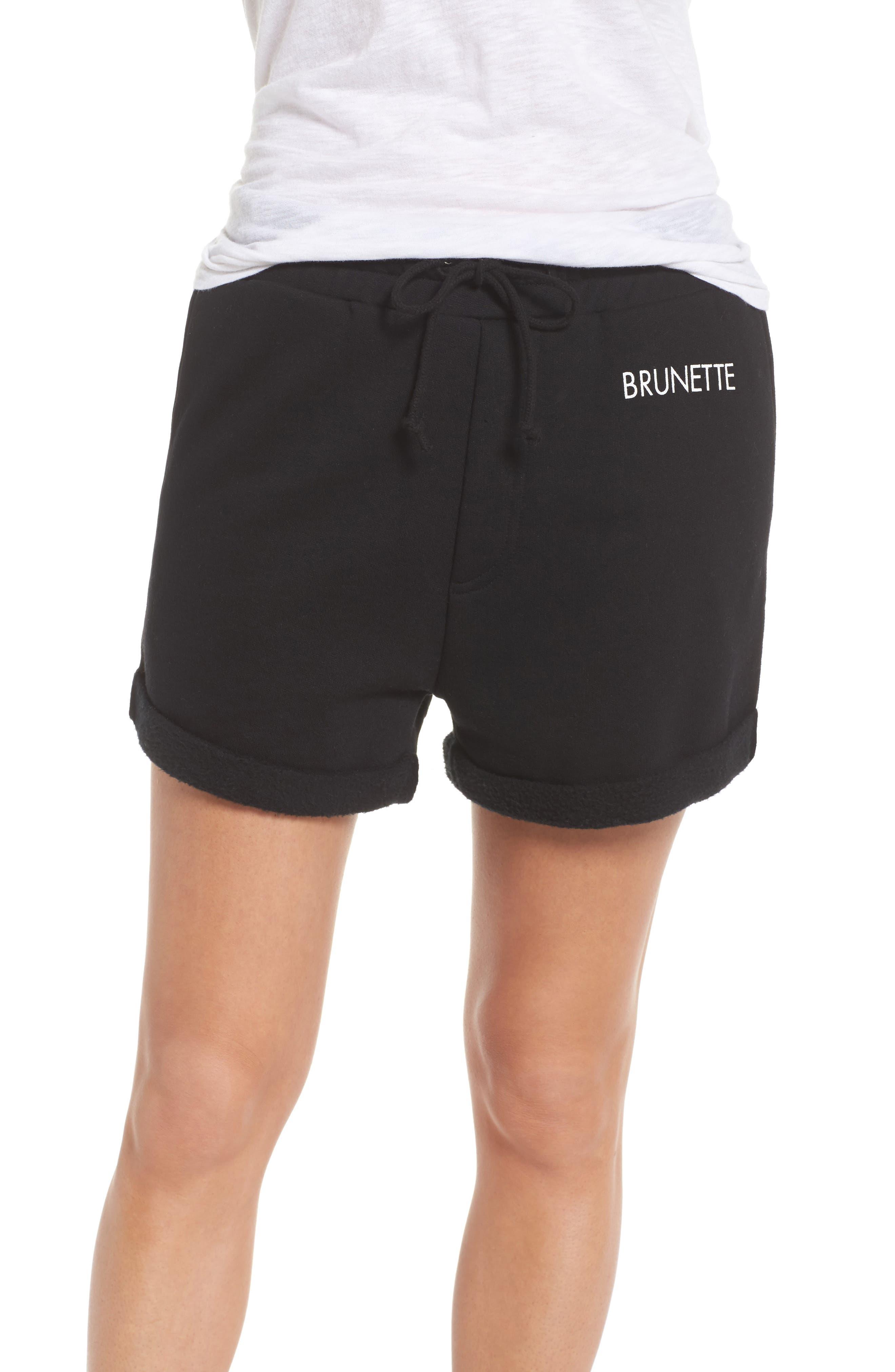 Brunette Shorts,                             Main thumbnail 1, color,                             Black
