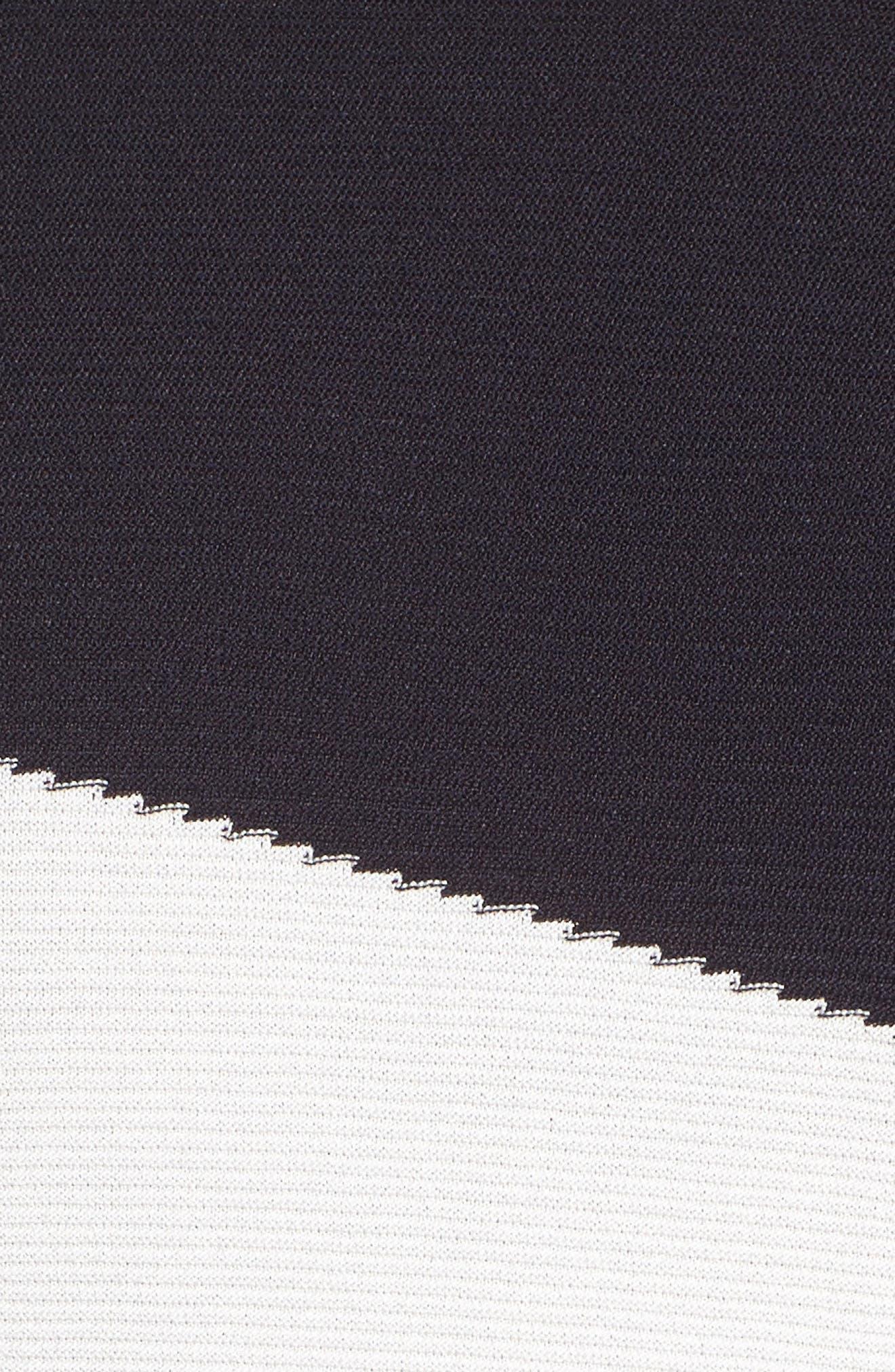 Color Block Sweater,                             Alternate thumbnail 5, color,                             Dark Navy