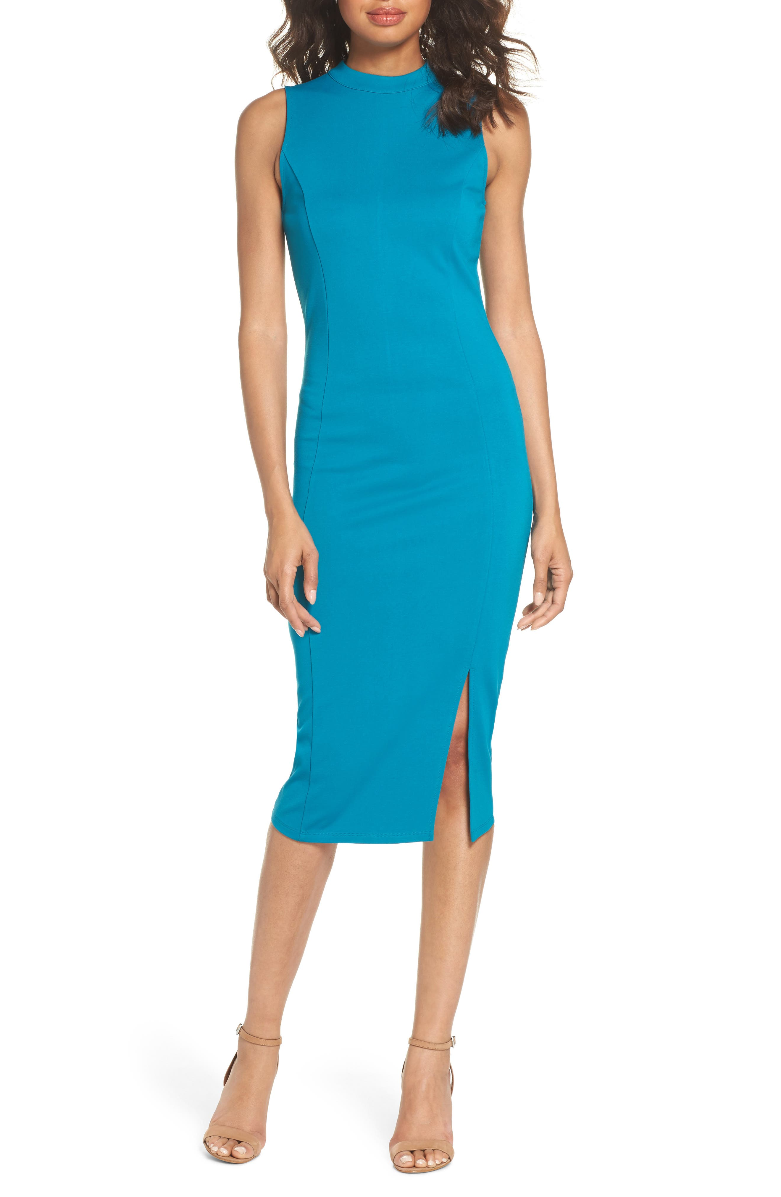 Main Image - Felicity & Coco Pepa Mock Neck Sheath Dress (Nordstrom Exclusive)