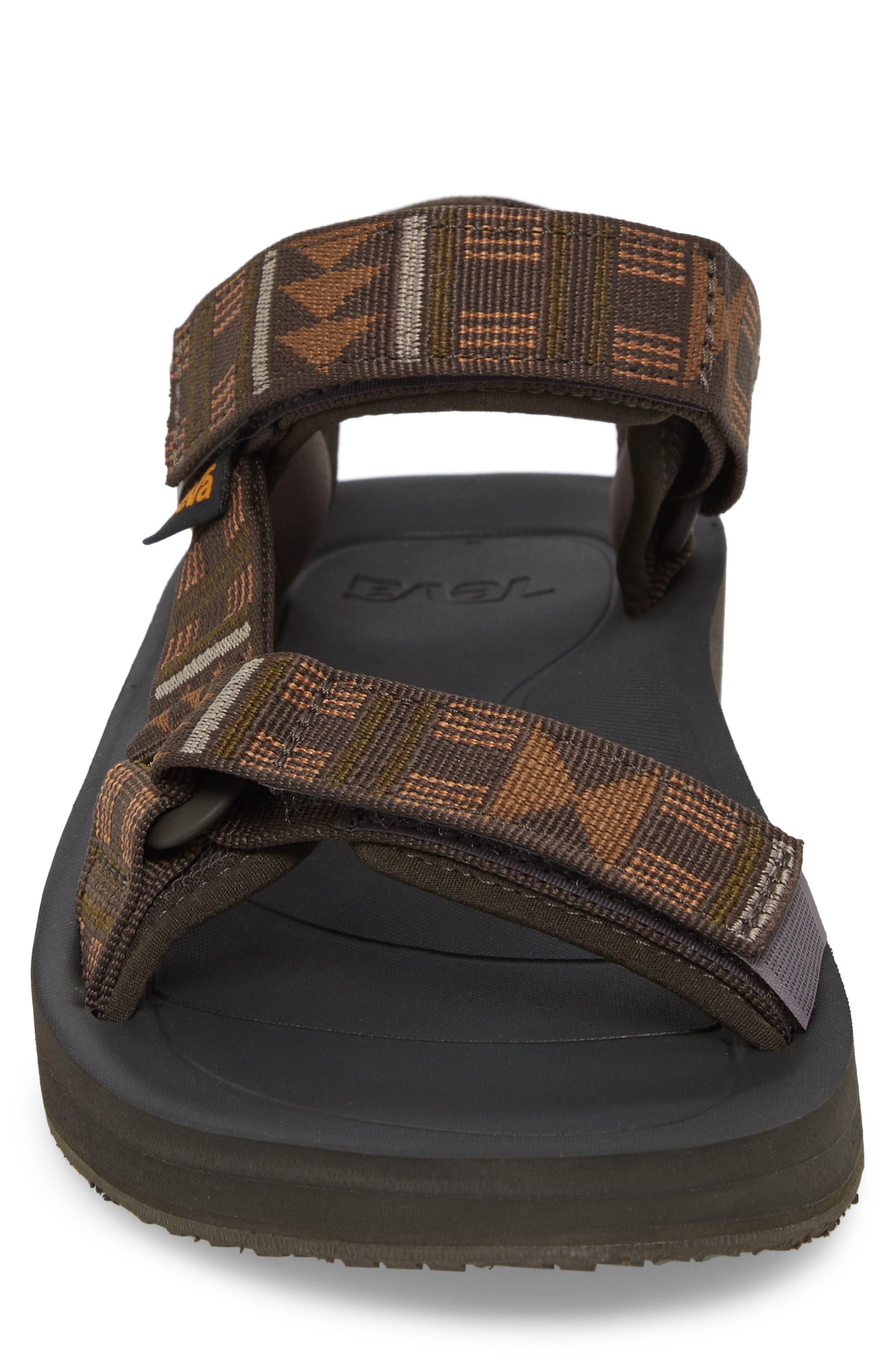 Original Universal Premier Sandal,                             Alternate thumbnail 4, color,                             Brown Nylon