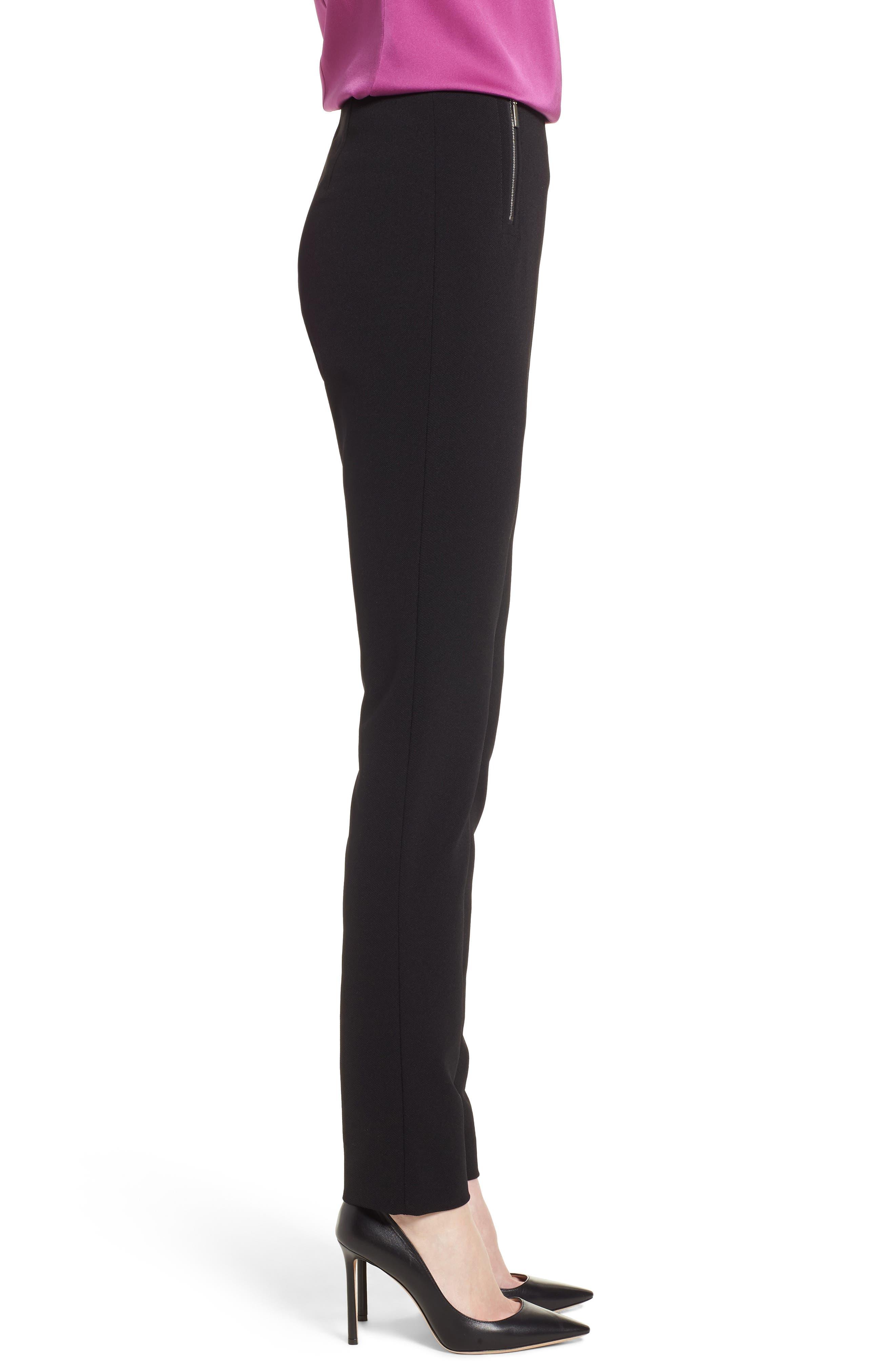 Tilezea Twill Jersey Trousers,                             Alternate thumbnail 3, color,                             Black