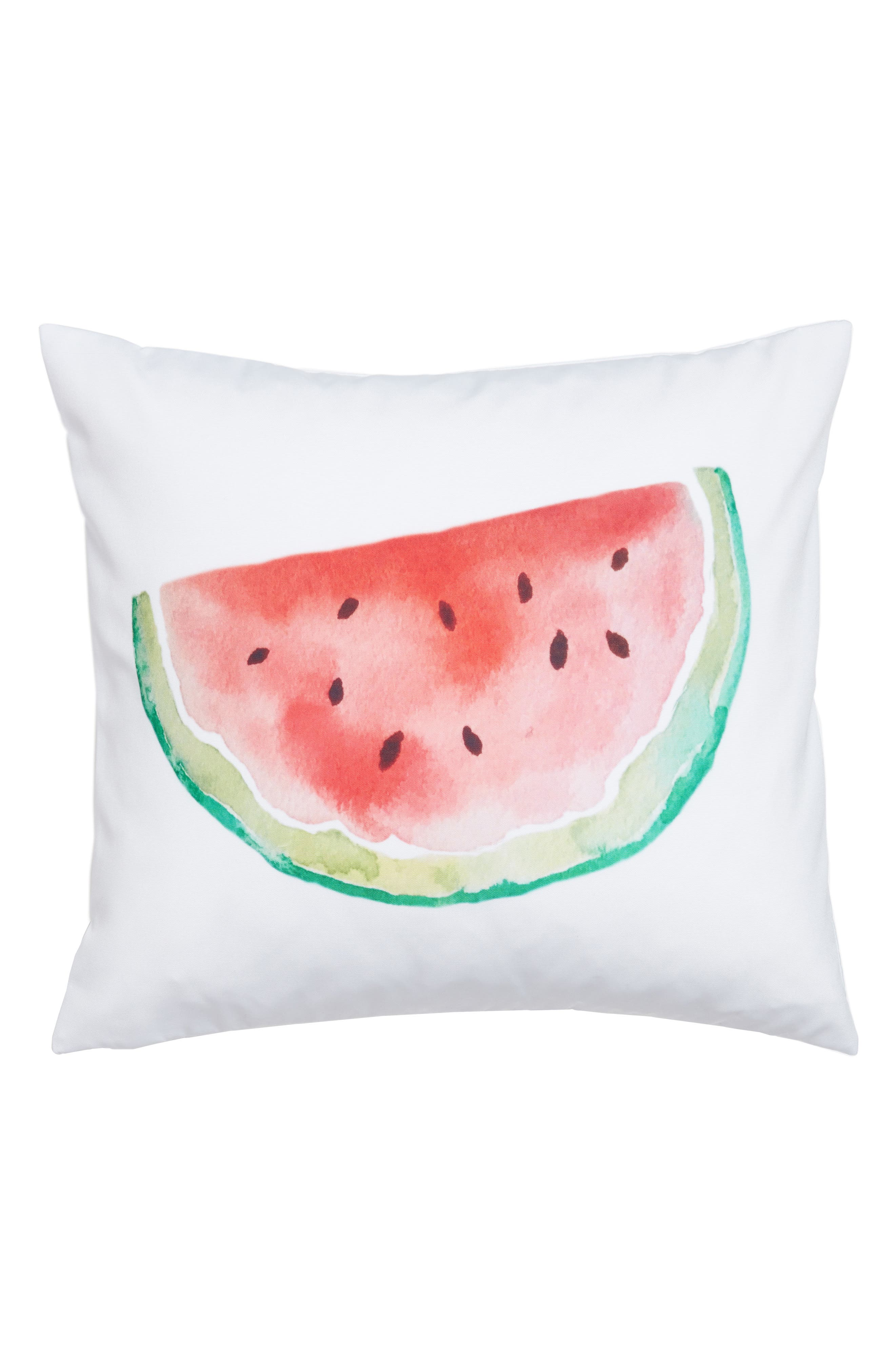 Watermelon Accent Pillow,                             Main thumbnail 1, color,                             Red