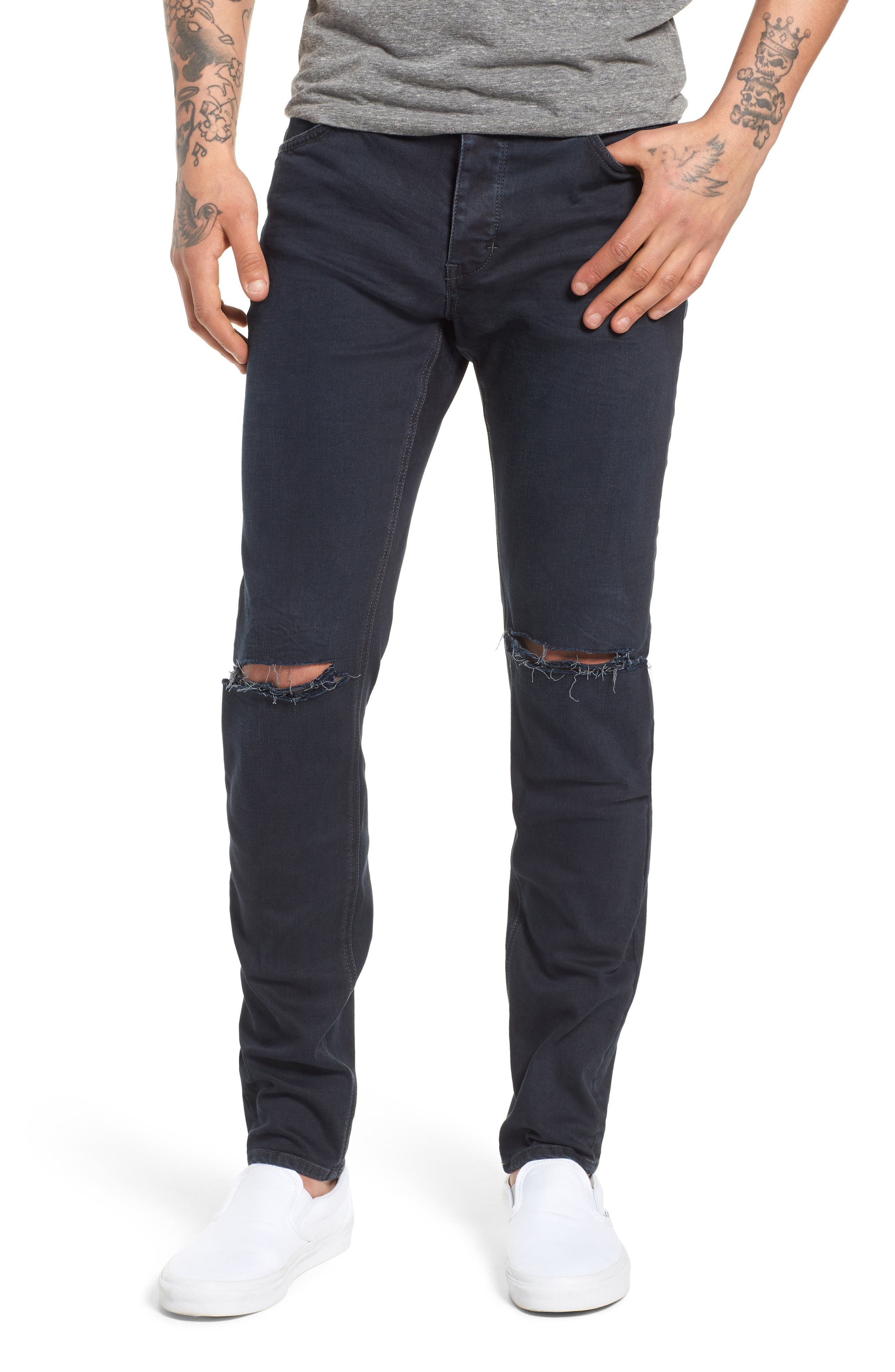 Iggy Skinny Fit Jeans,                             Main thumbnail 1, color,                             Blue Lines Broken