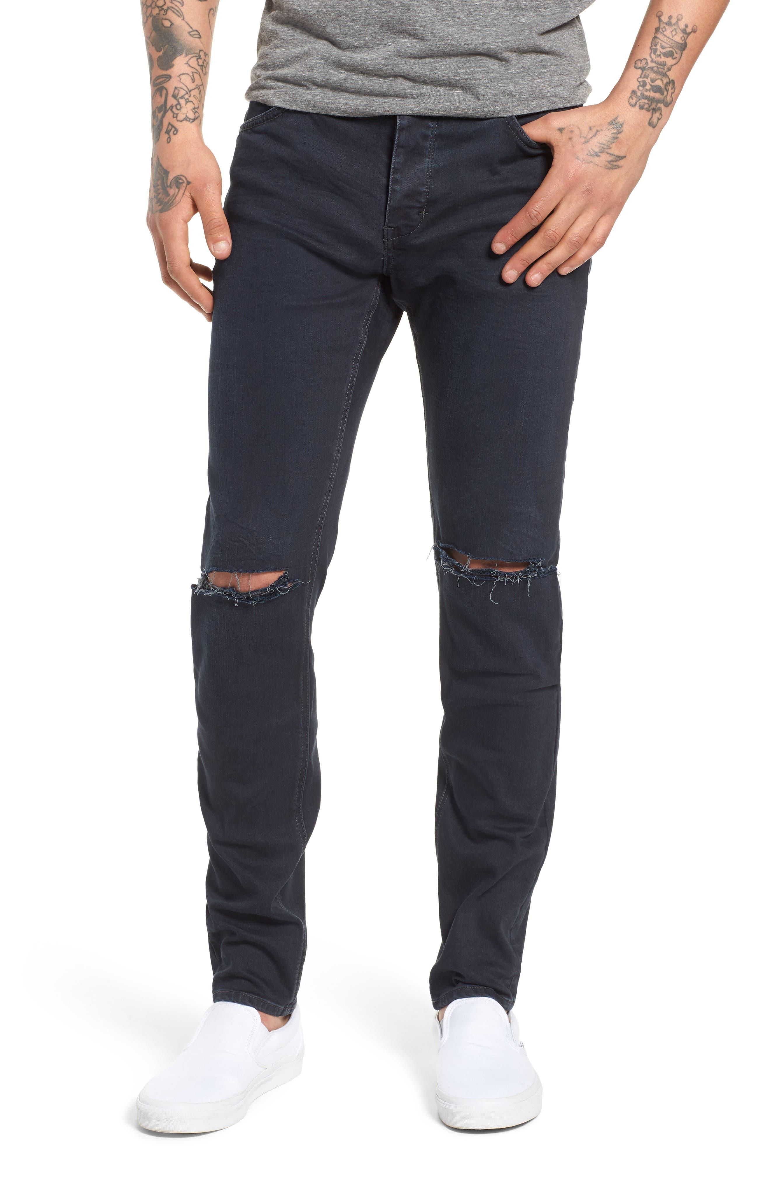 Iggy Skinny Fit Jeans,                         Main,                         color, Blue Lines Broken