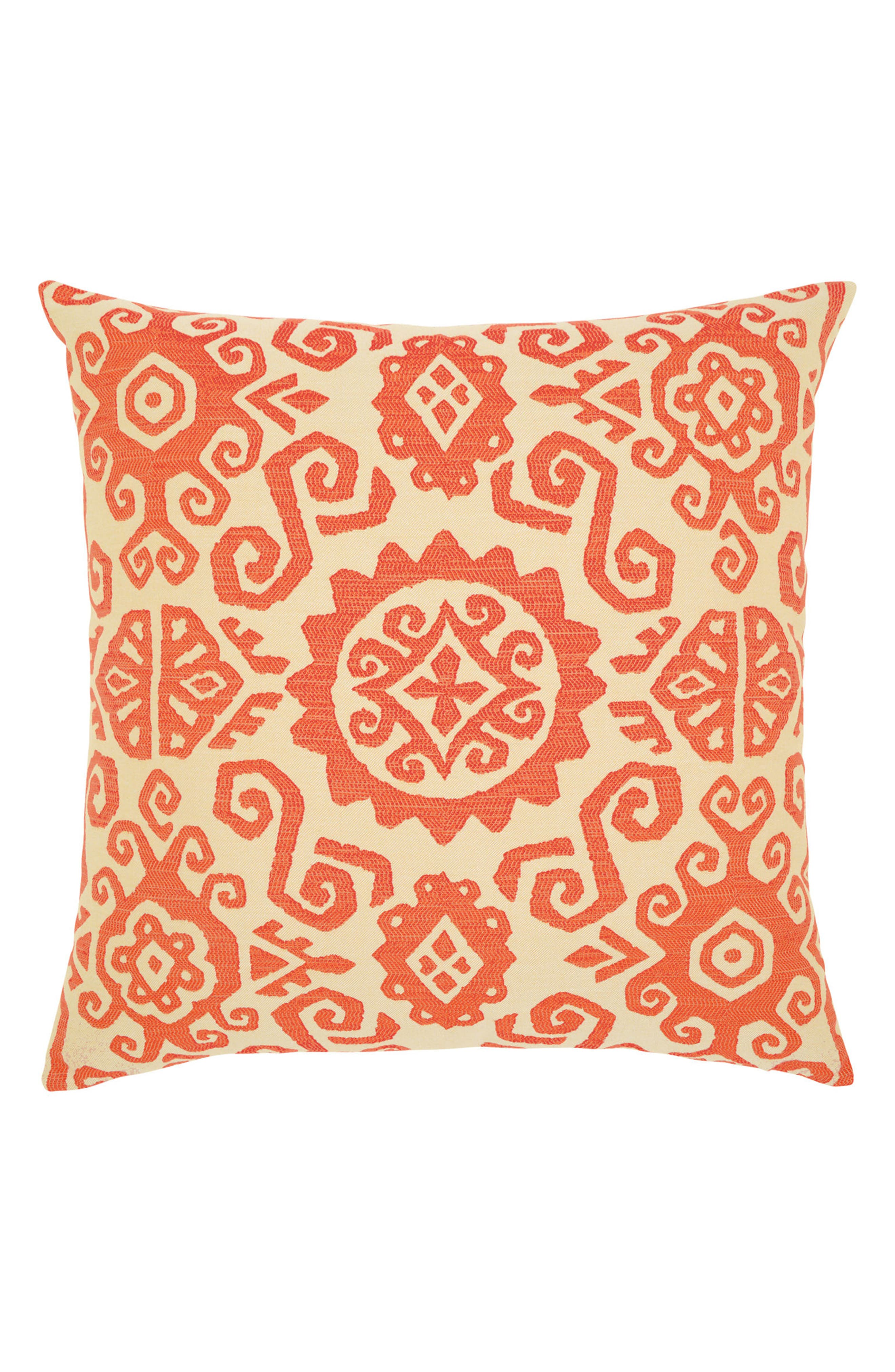 Coral Sun Indoor/Outdoor Accent Pillow,                         Main,                         color, Orange