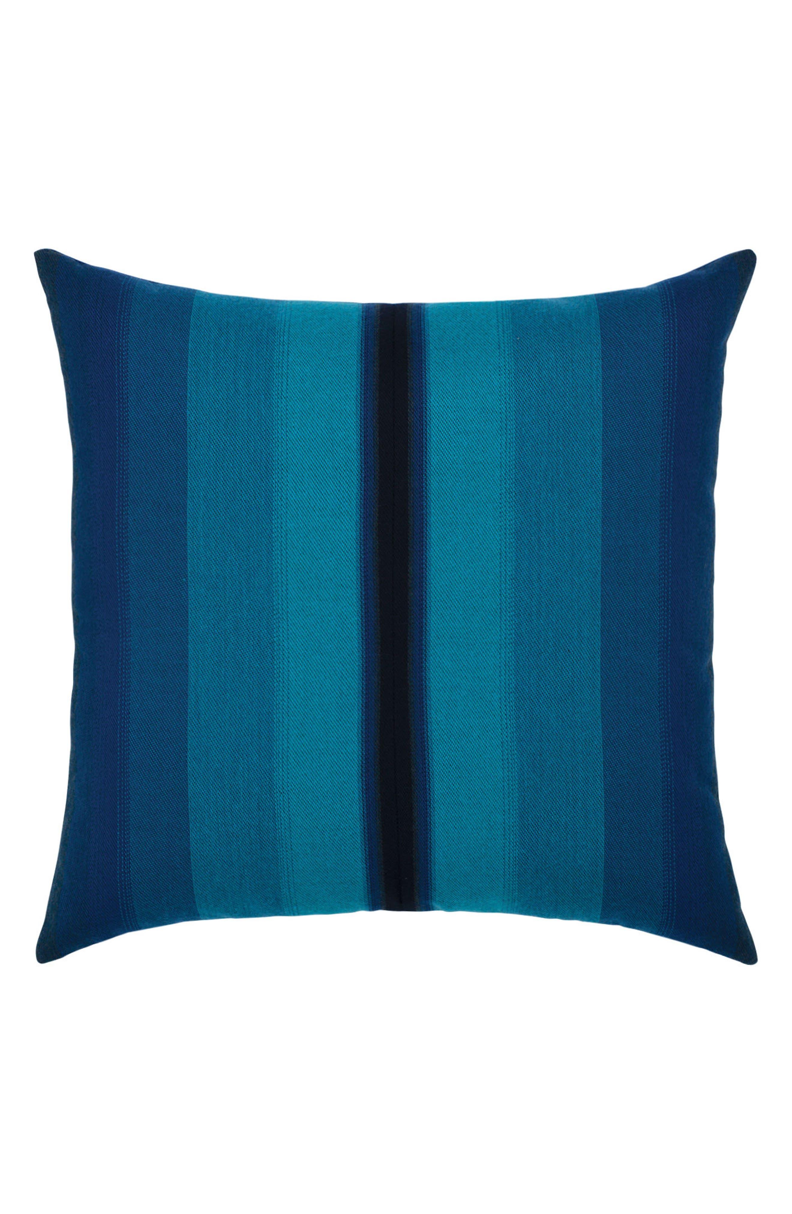 Ombré Azure Indoor/Outdoor Accent Pillow,                         Main,                         color, Blue