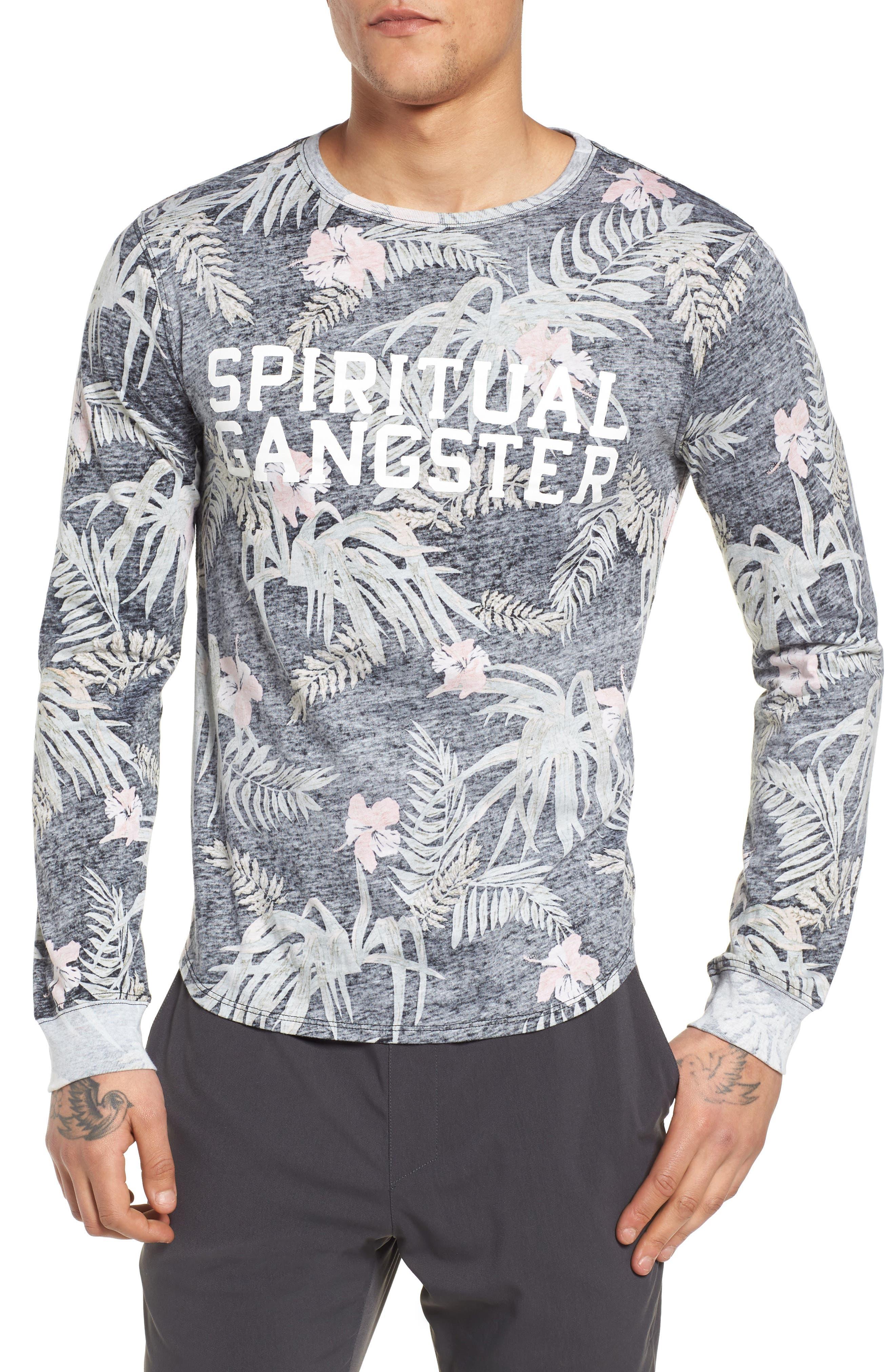 Spiritual Gangster Print T-Shirt