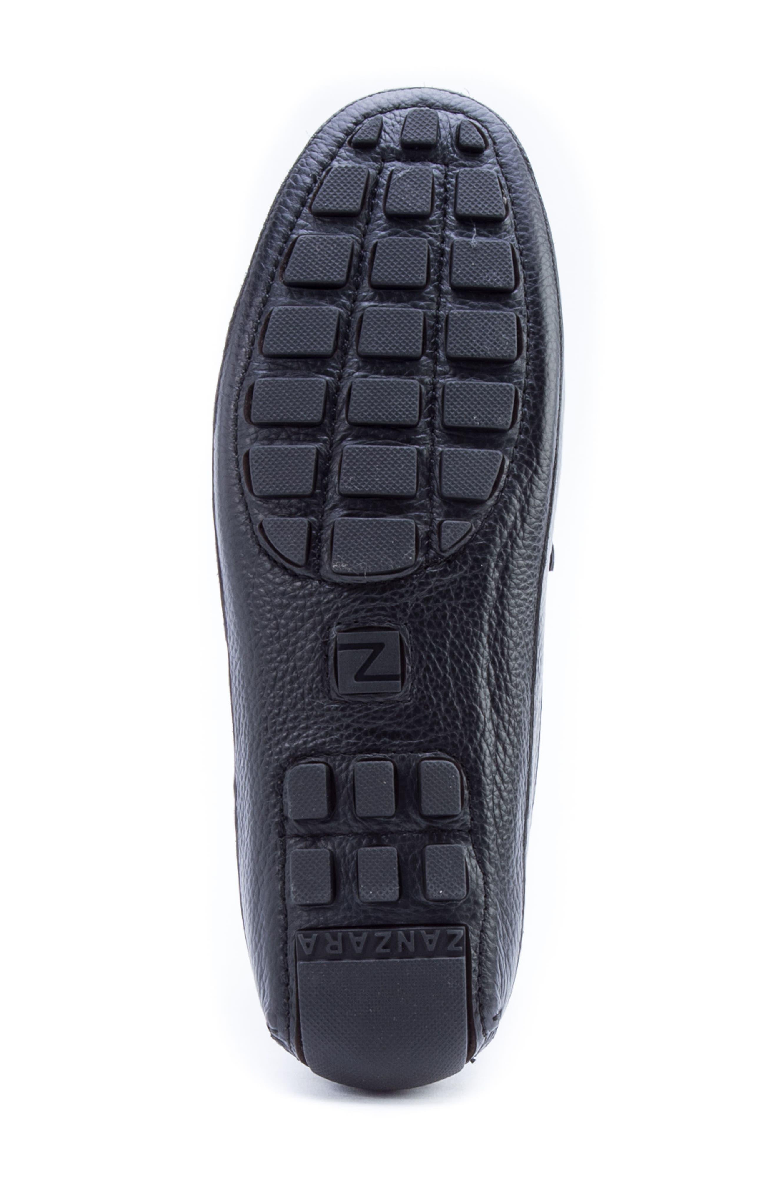 Kandinsky Moc Toe Driving Loafer,                             Alternate thumbnail 6, color,                             Black Leather