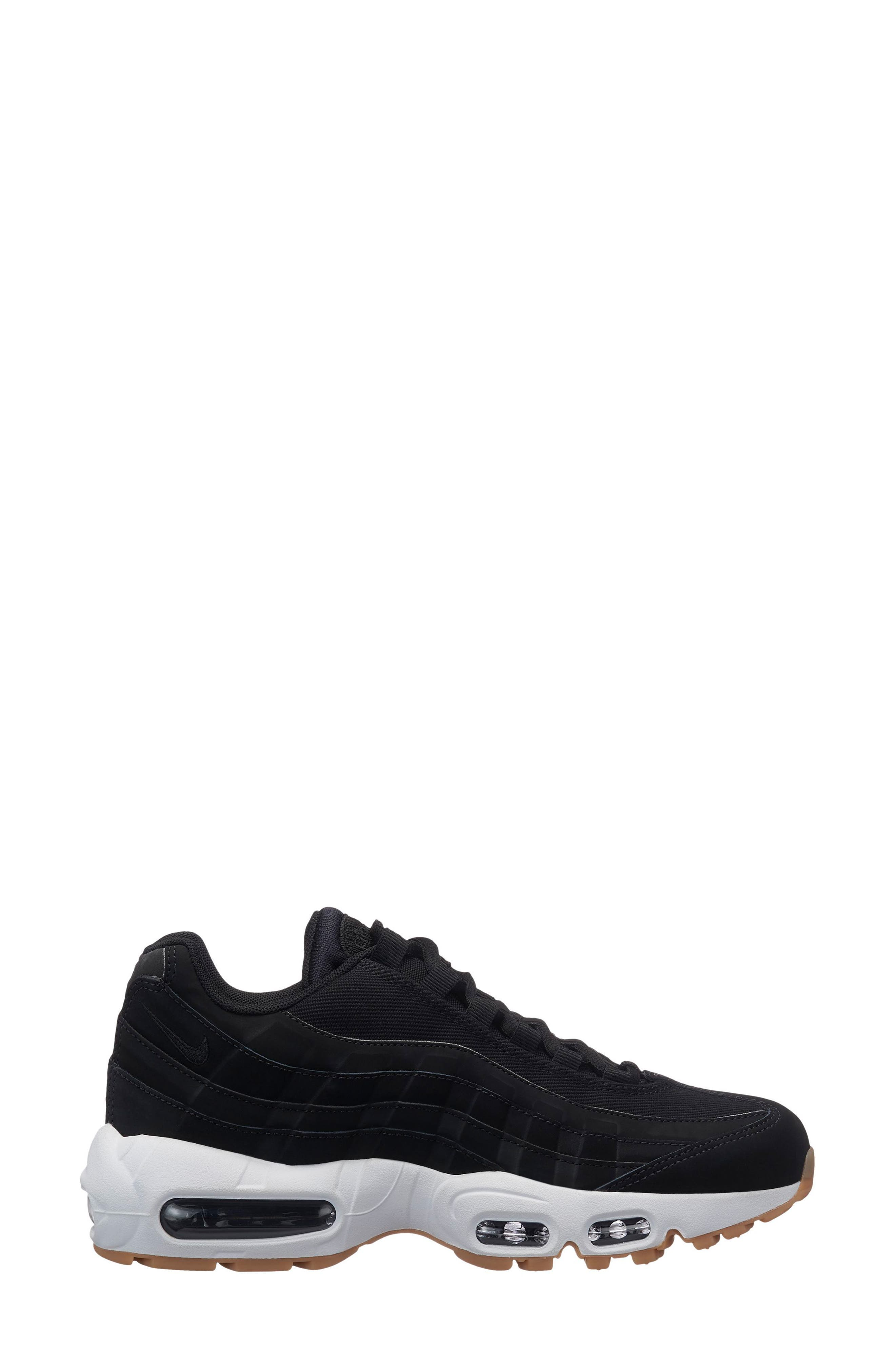 Air Max 95 Running Shoe,                         Main,                         color, Black