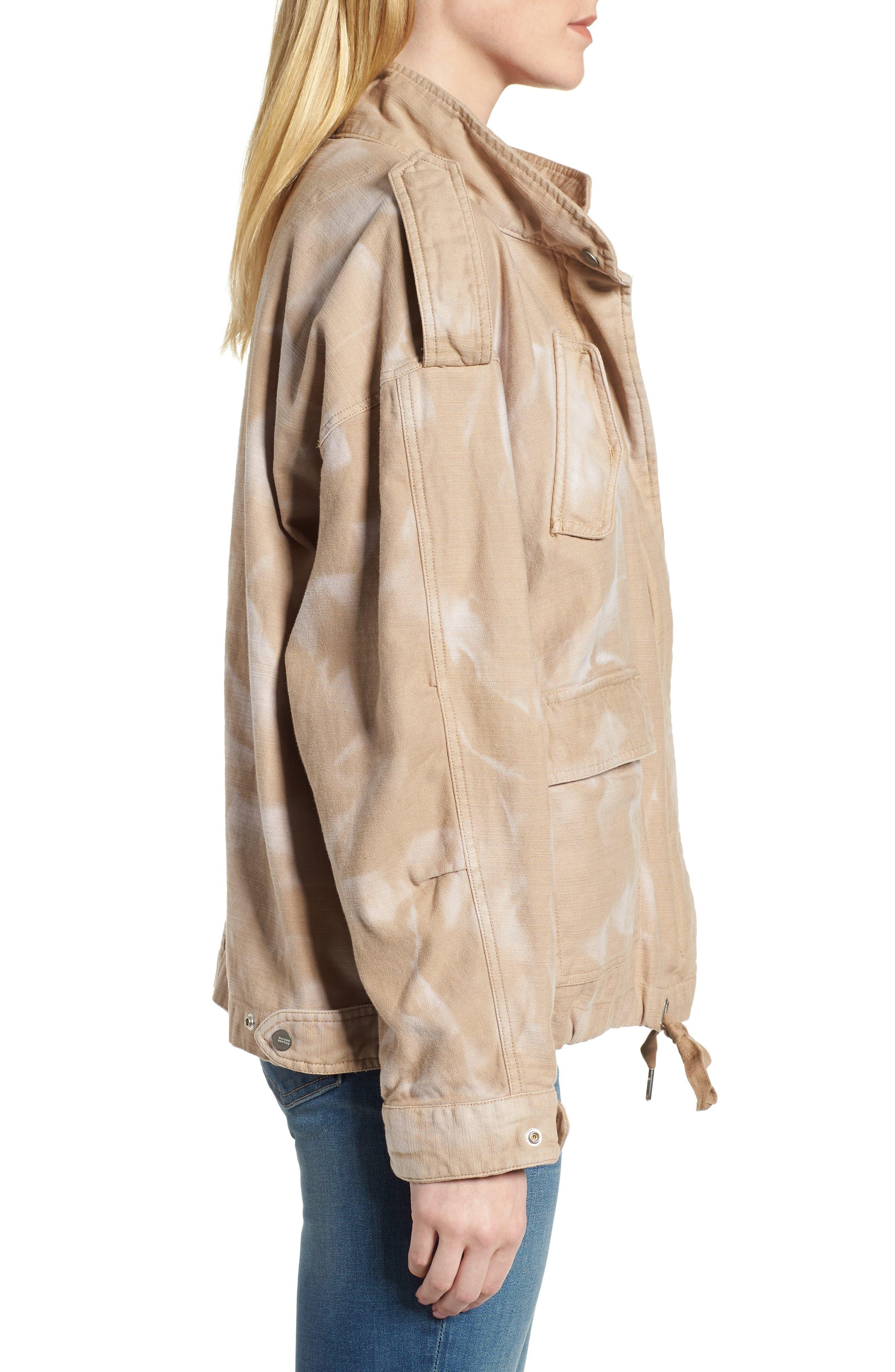 Oversize Military Jacket,                             Alternate thumbnail 3, color,                             Color 37 Sand