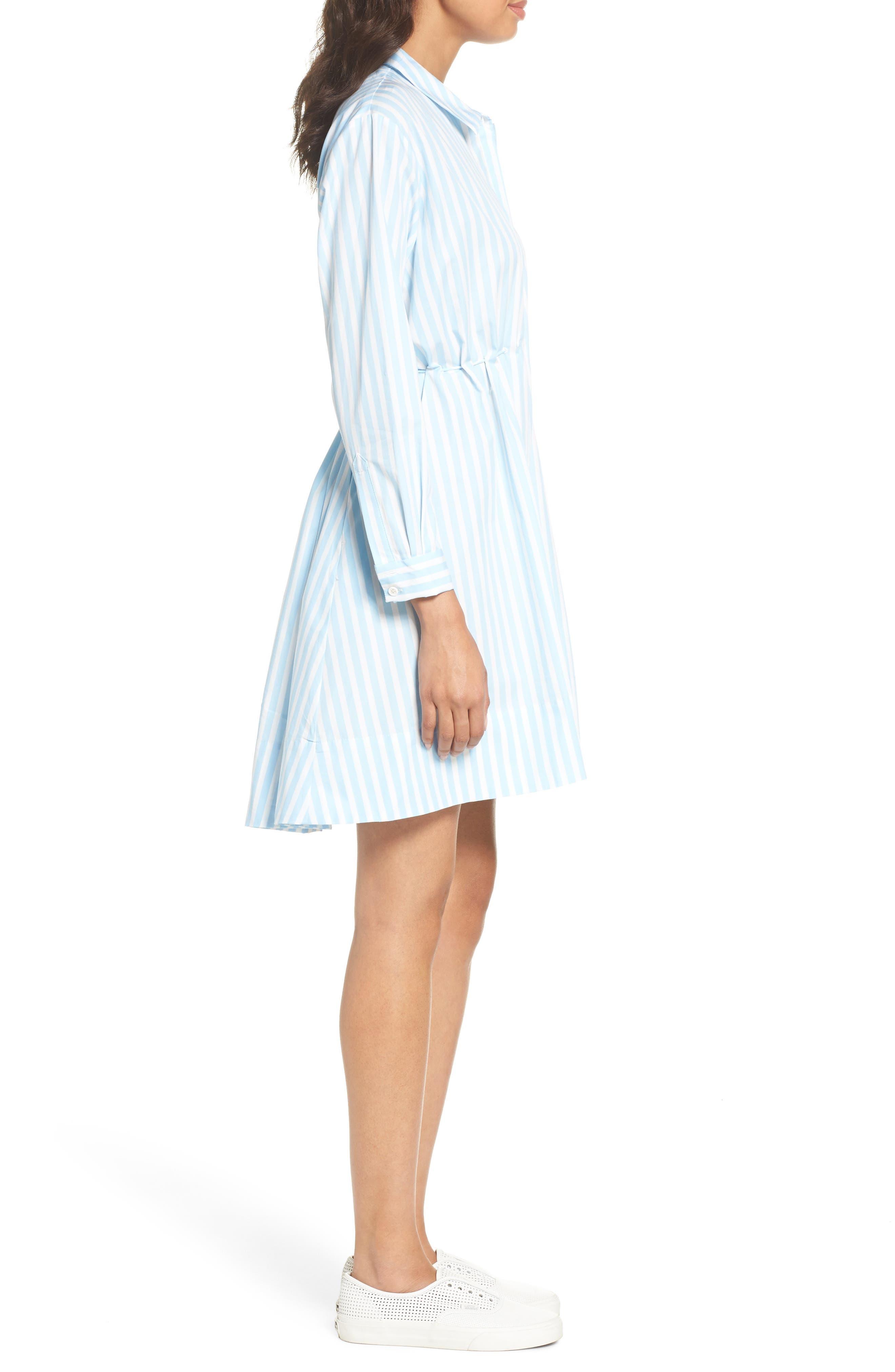 Smithson Stripe Shirtdress,                             Alternate thumbnail 3, color,                             Dream Blue