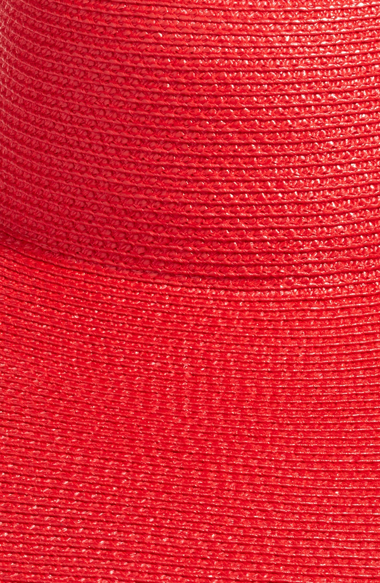 Floppy Straw Hat,                             Alternate thumbnail 2, color,                             Red