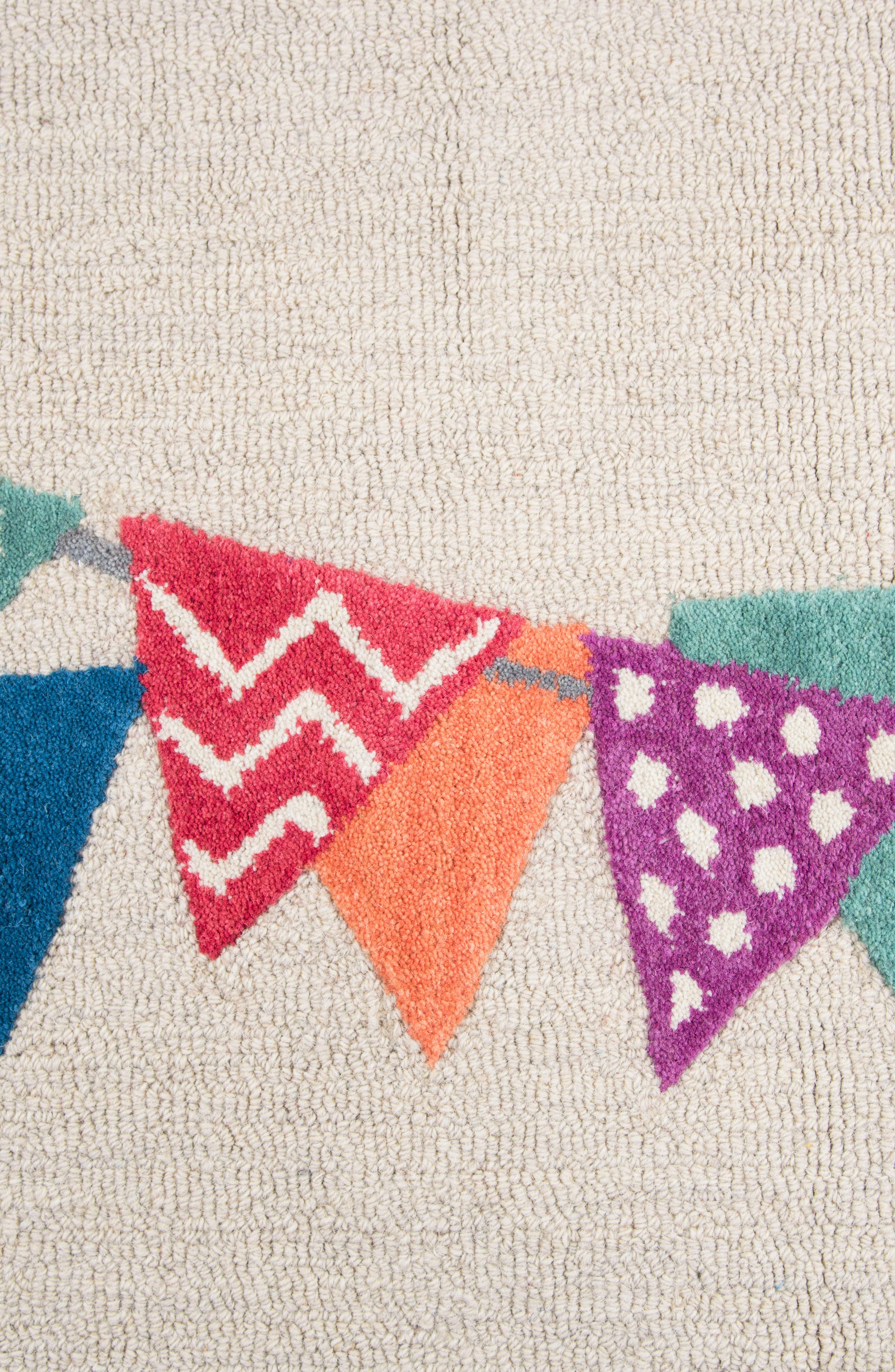 Play Day Flags Rug,                             Alternate thumbnail 2, color,                             Ivory
