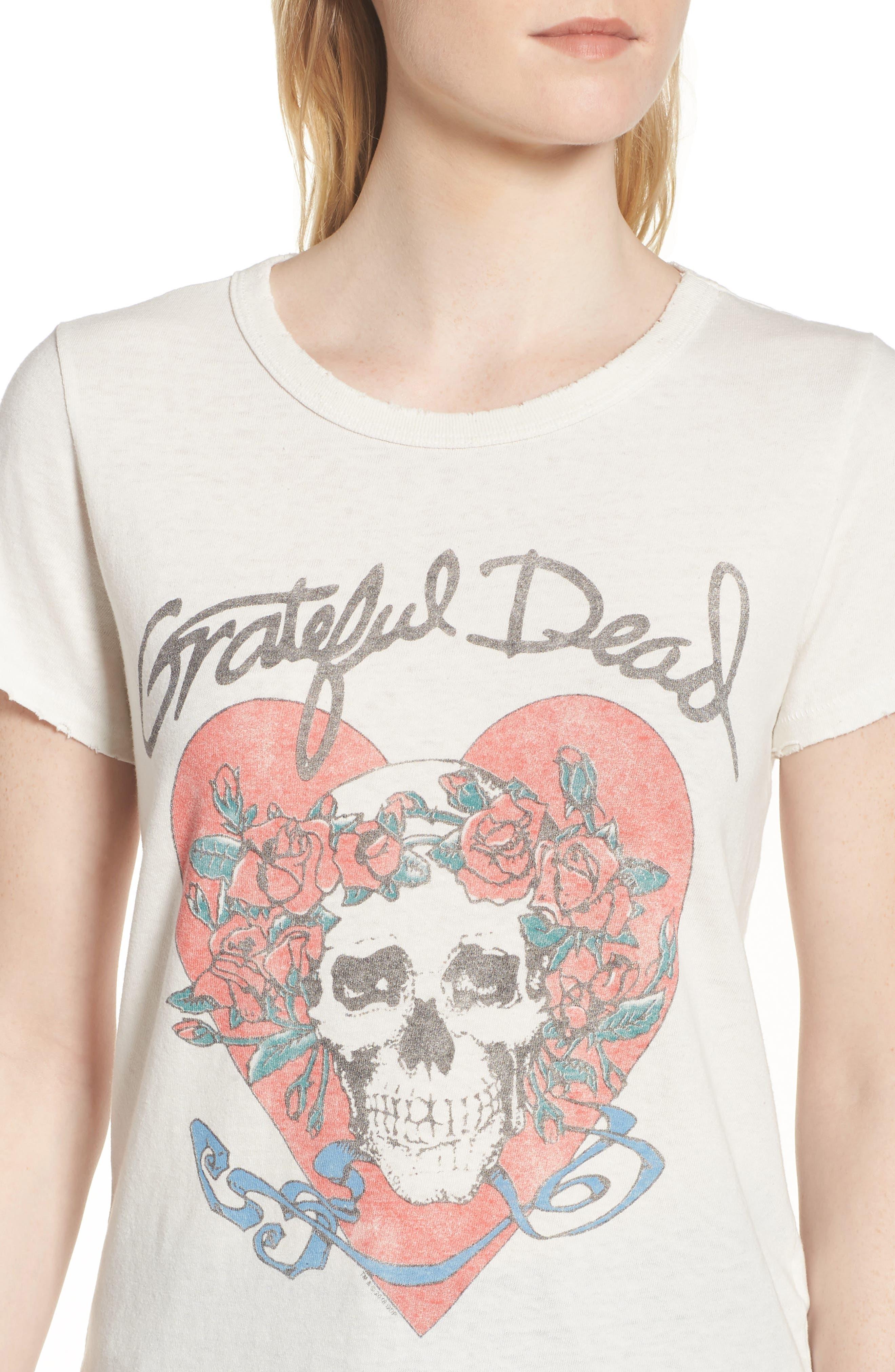Grateful Dead Tee,                             Alternate thumbnail 4, color,                             Vintage White