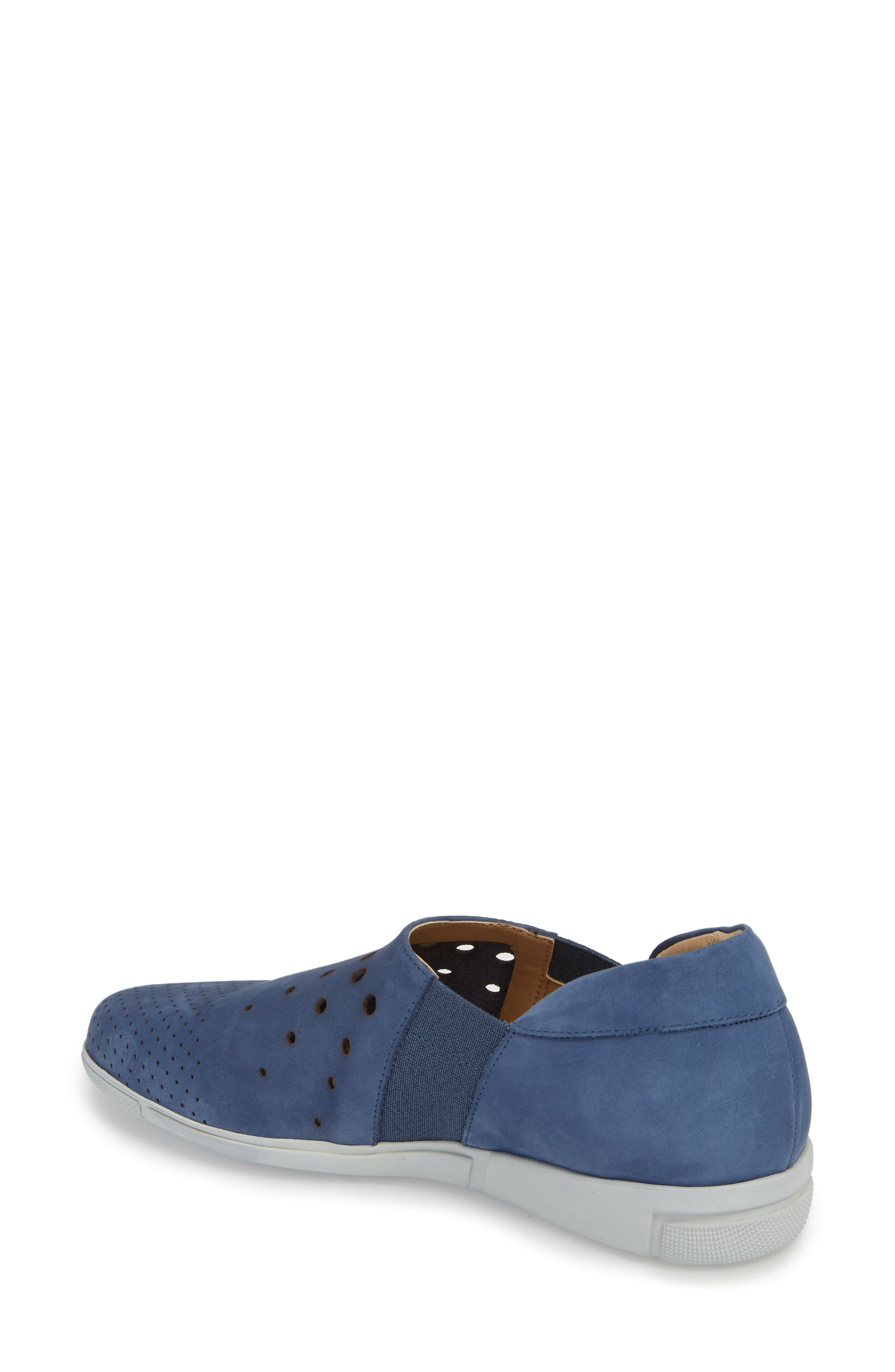 Ditty Perforated Slip-On,                             Alternate thumbnail 2, color,                             Jeans Soft Nubuck