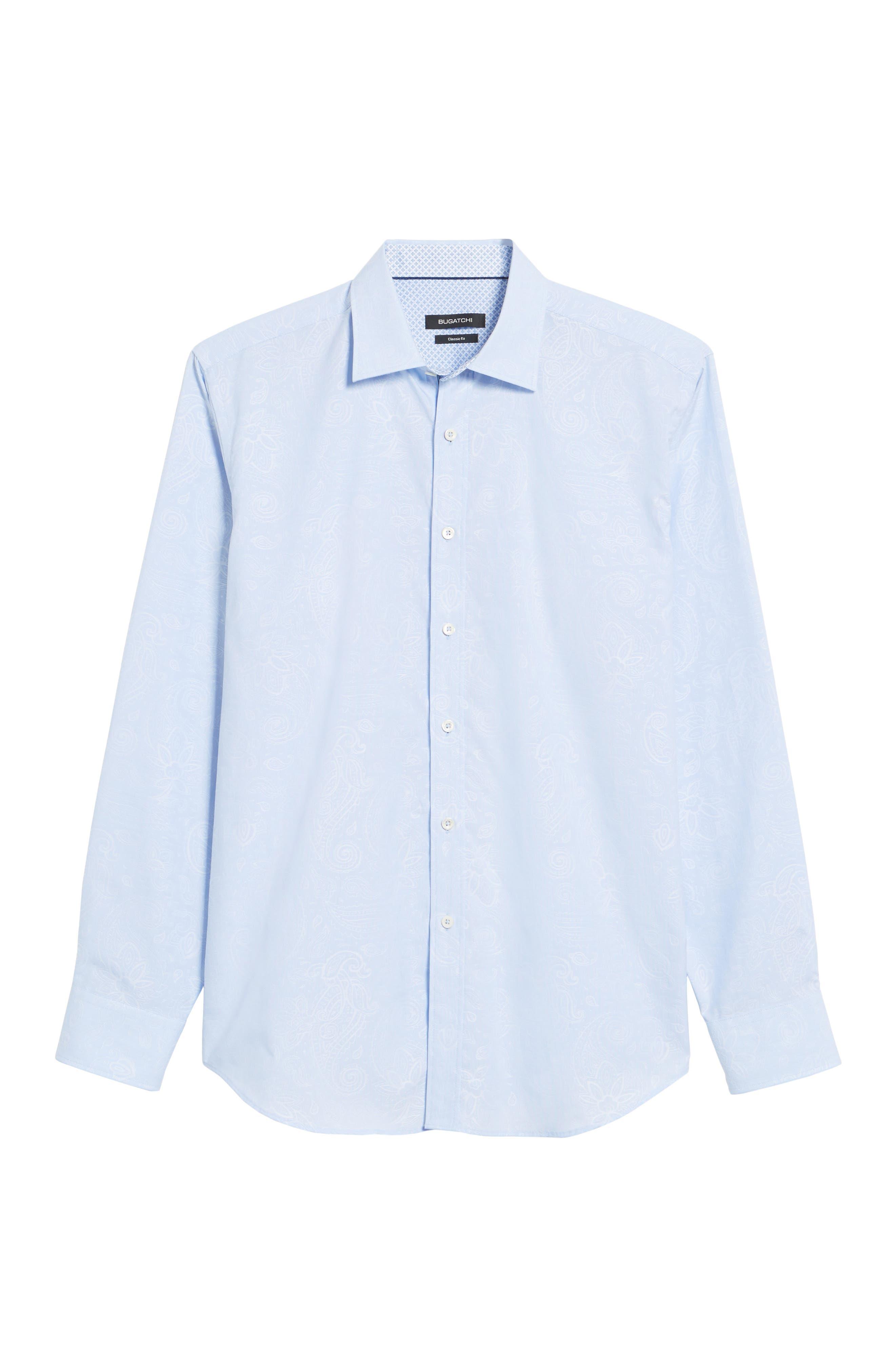 Classic Fit Woven Sport Shirt,                             Alternate thumbnail 6, color,                             Dusty Blue