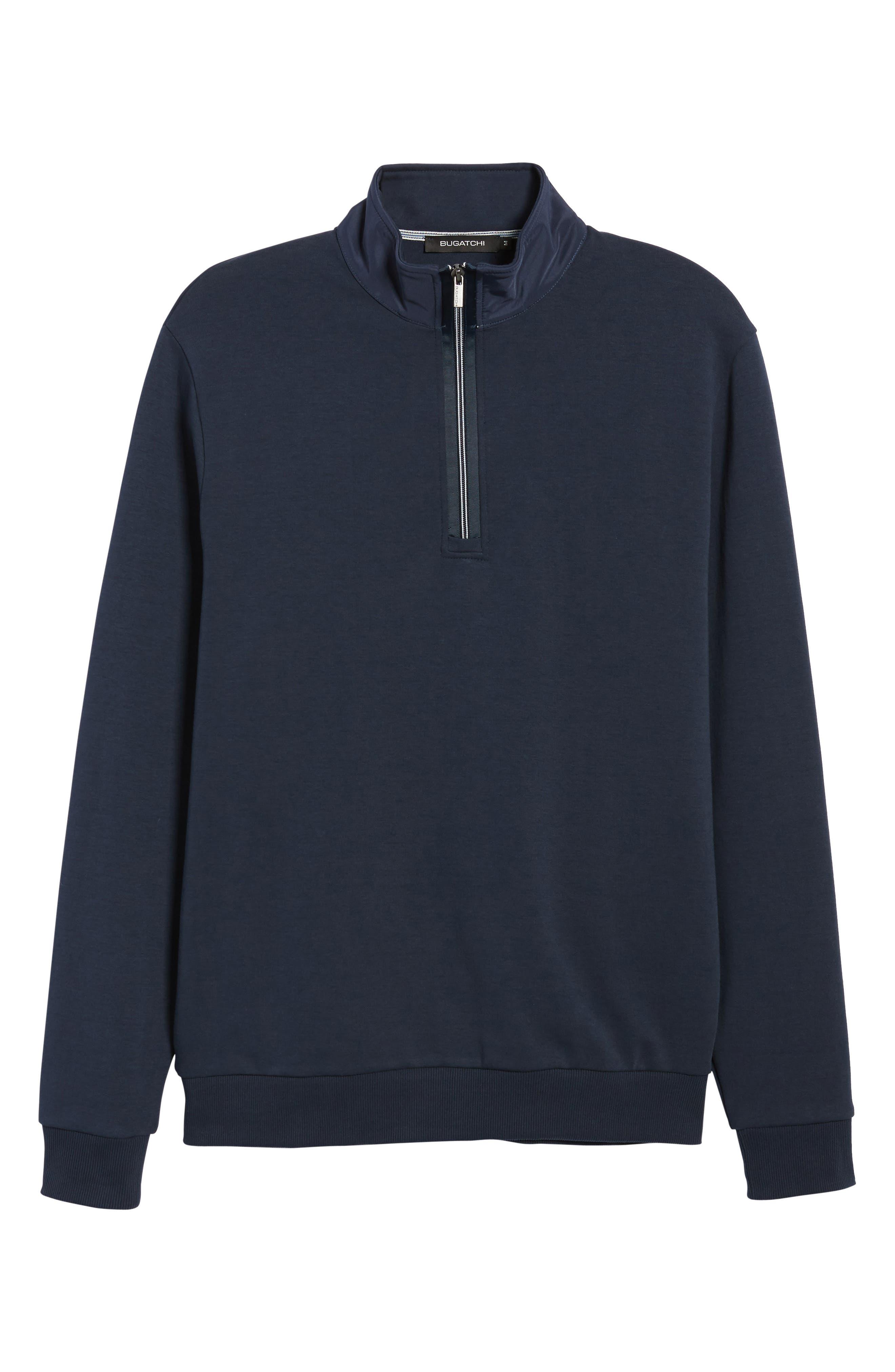 Regular Fit Quarter Zip Pullover,                             Alternate thumbnail 6, color,                             Navy