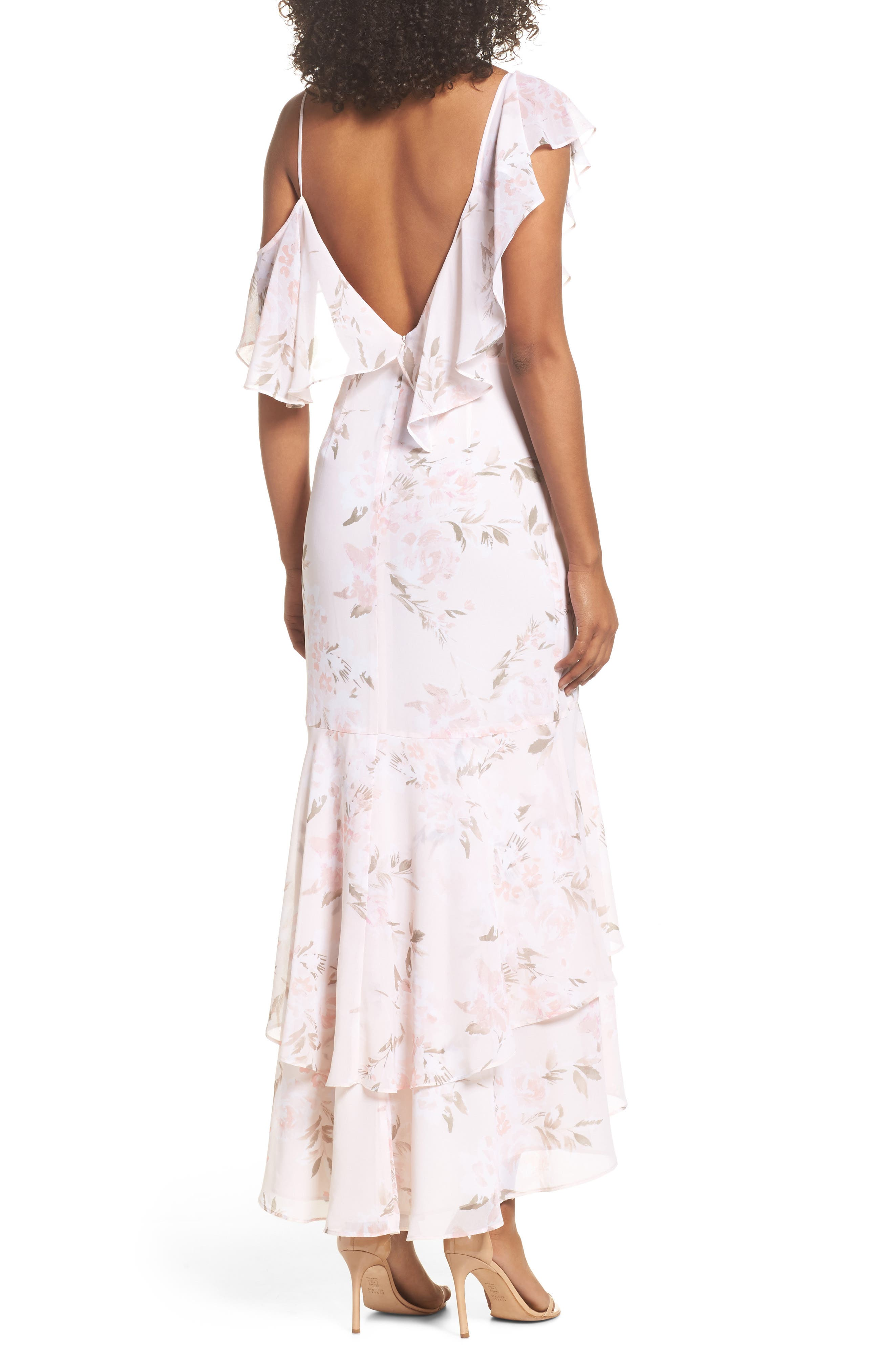 Alternate Image 2  - WAYF Elanor Ruffle Faux Wrap Maxi Dress
