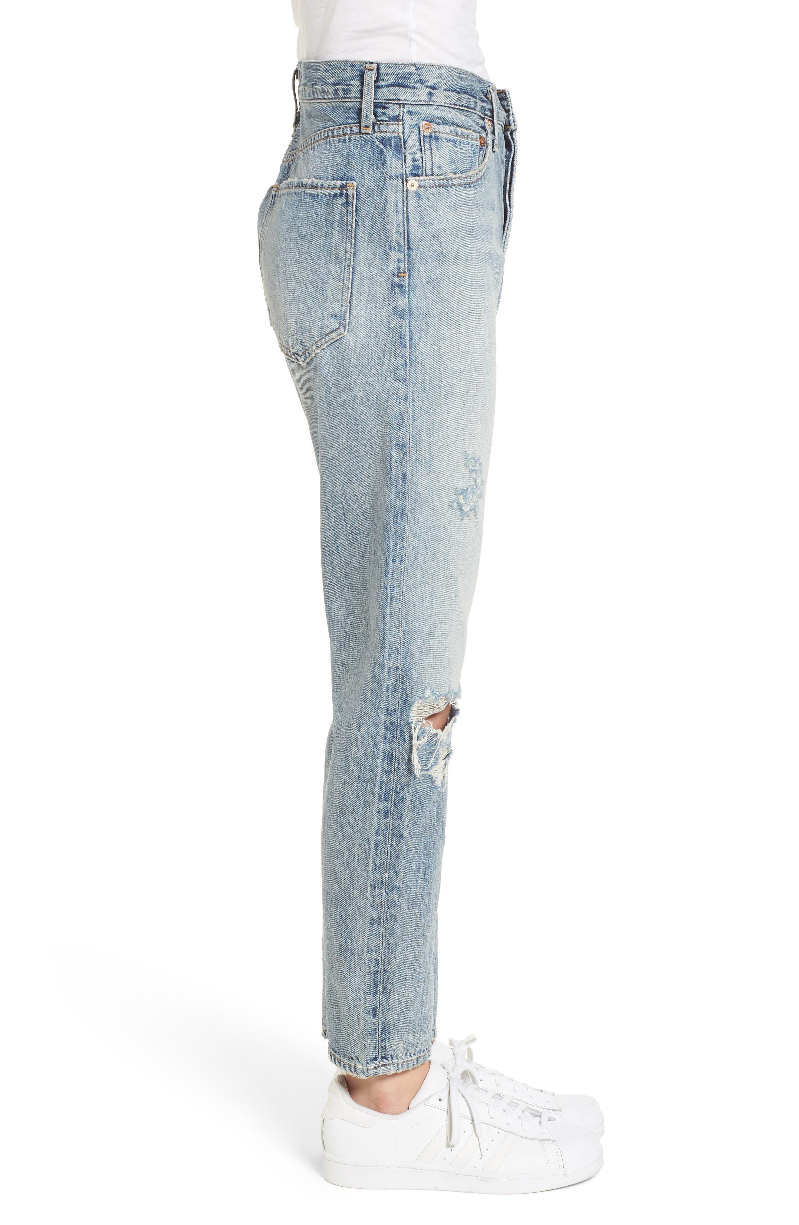 Jamie High Waist Ankle Jeans,                             Alternate thumbnail 3, color,                             Resolution