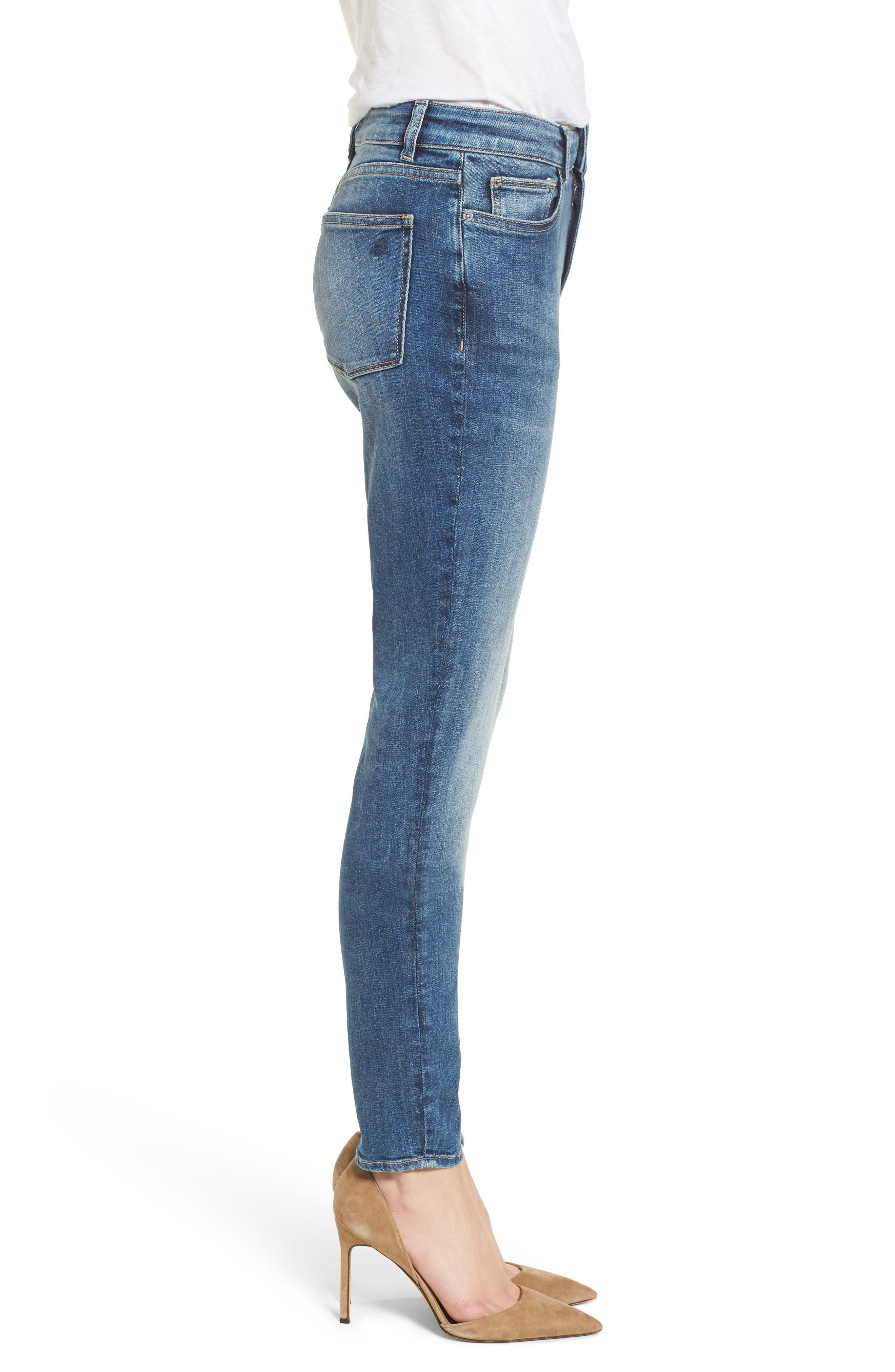 Farrow Instaslim High Waist Skinny Jeans,                             Alternate thumbnail 3, color,                             Wells