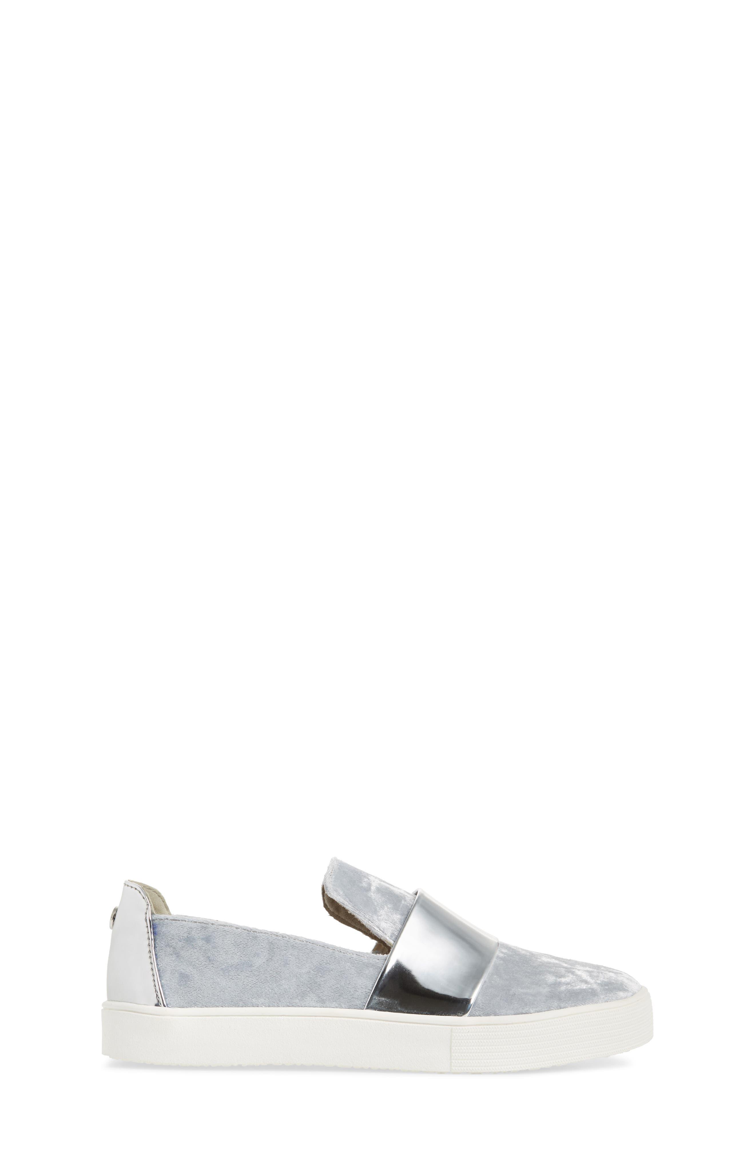 Vance Slip-On Sneaker,                             Alternate thumbnail 3, color,                             Silver