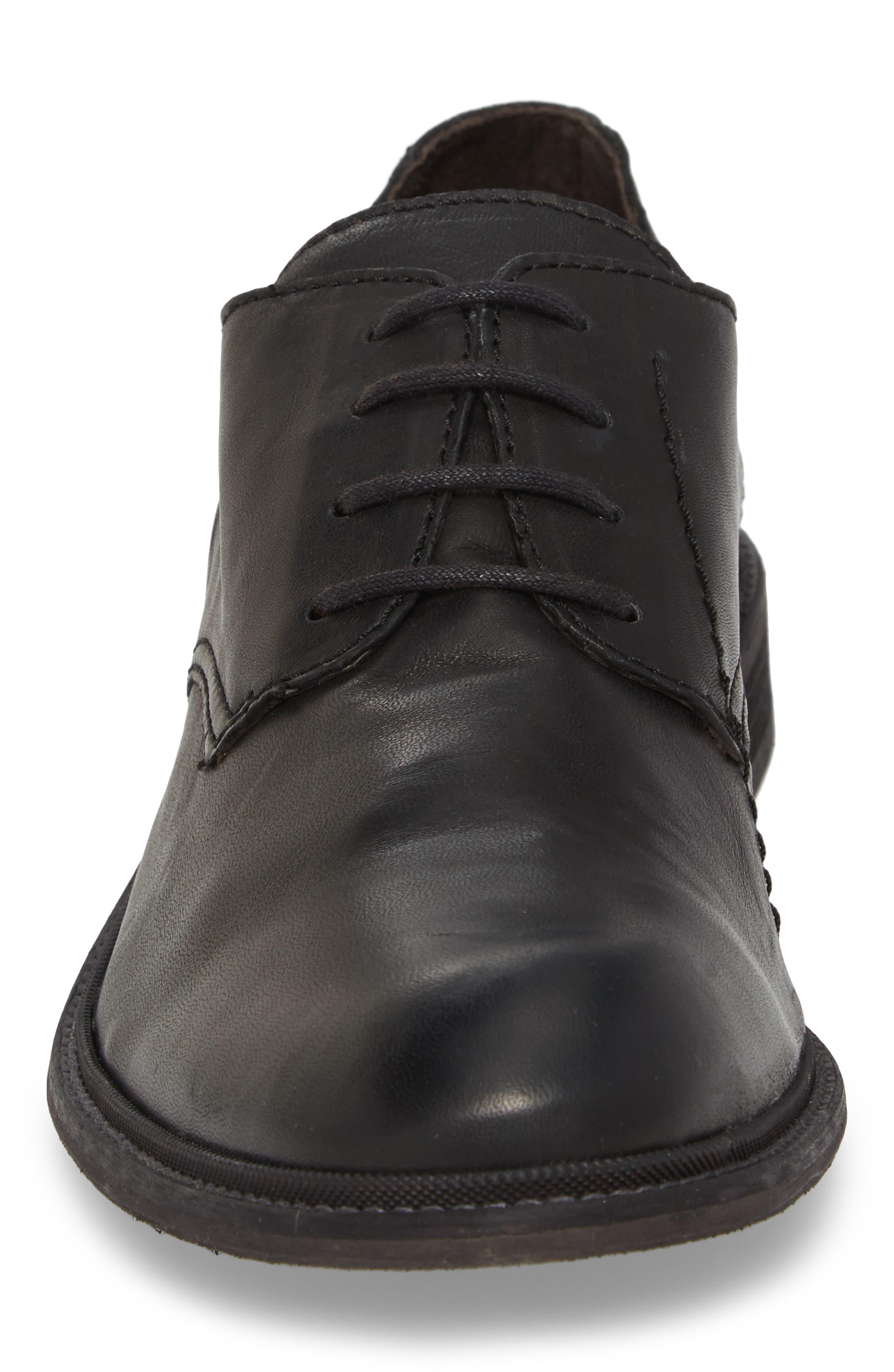 Hoco Plain Toe Derby,                             Alternate thumbnail 4, color,                             Black Leather