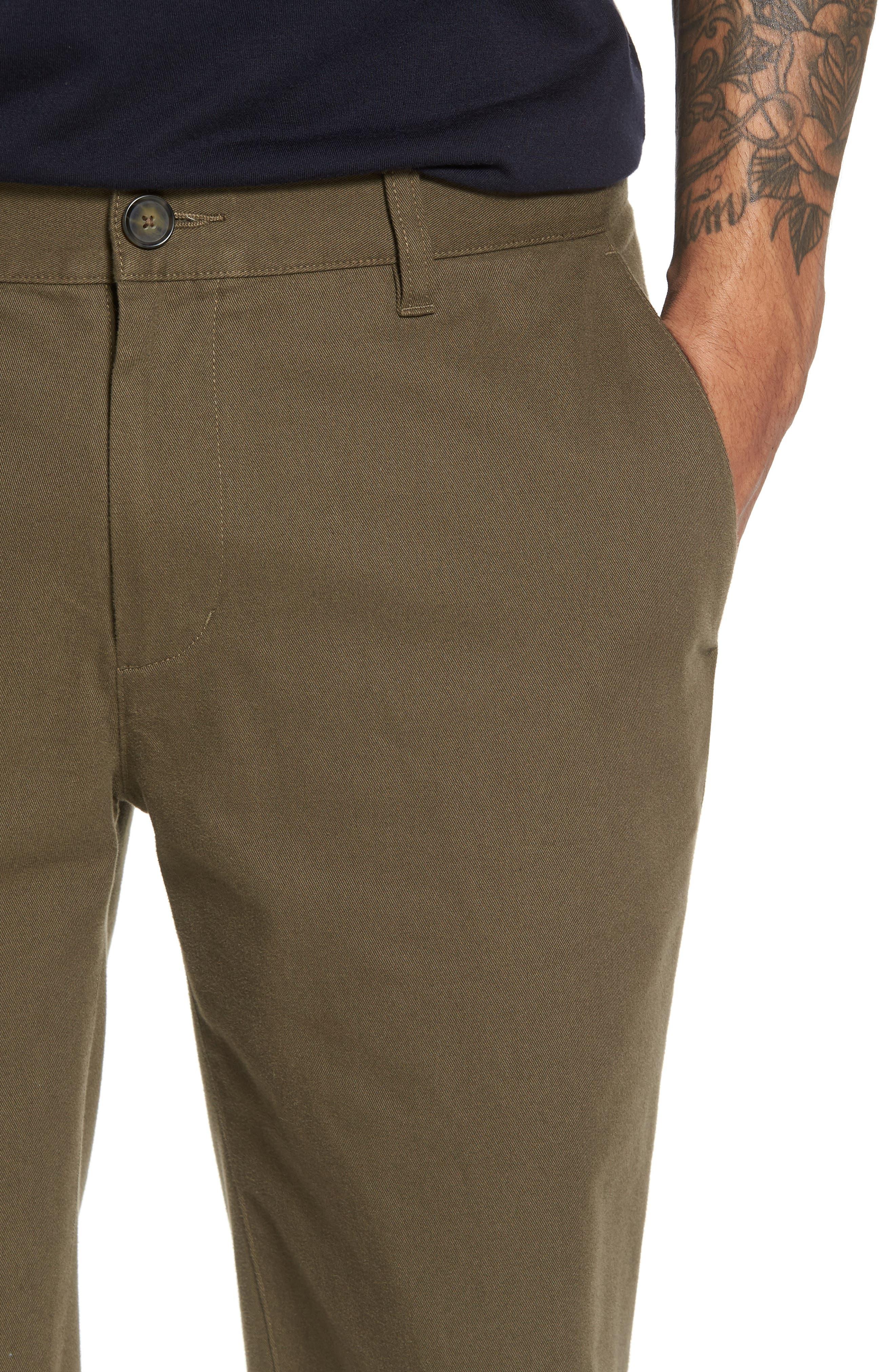 Slim Fit Chino Shorts,                             Alternate thumbnail 4, color,                             Camp Green