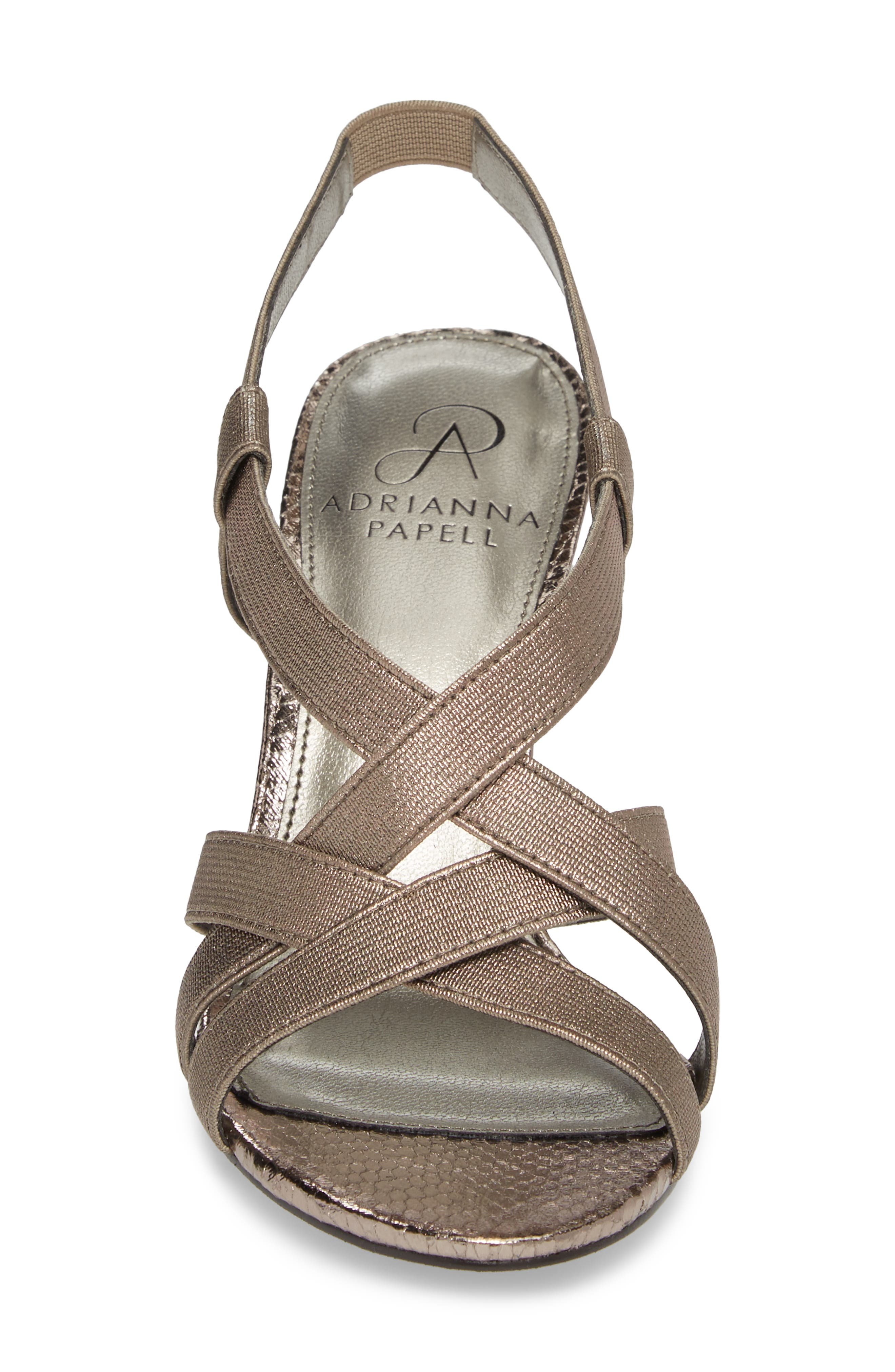 Addie Sandal,                             Alternate thumbnail 4, color,                             Gunmetal Fabric