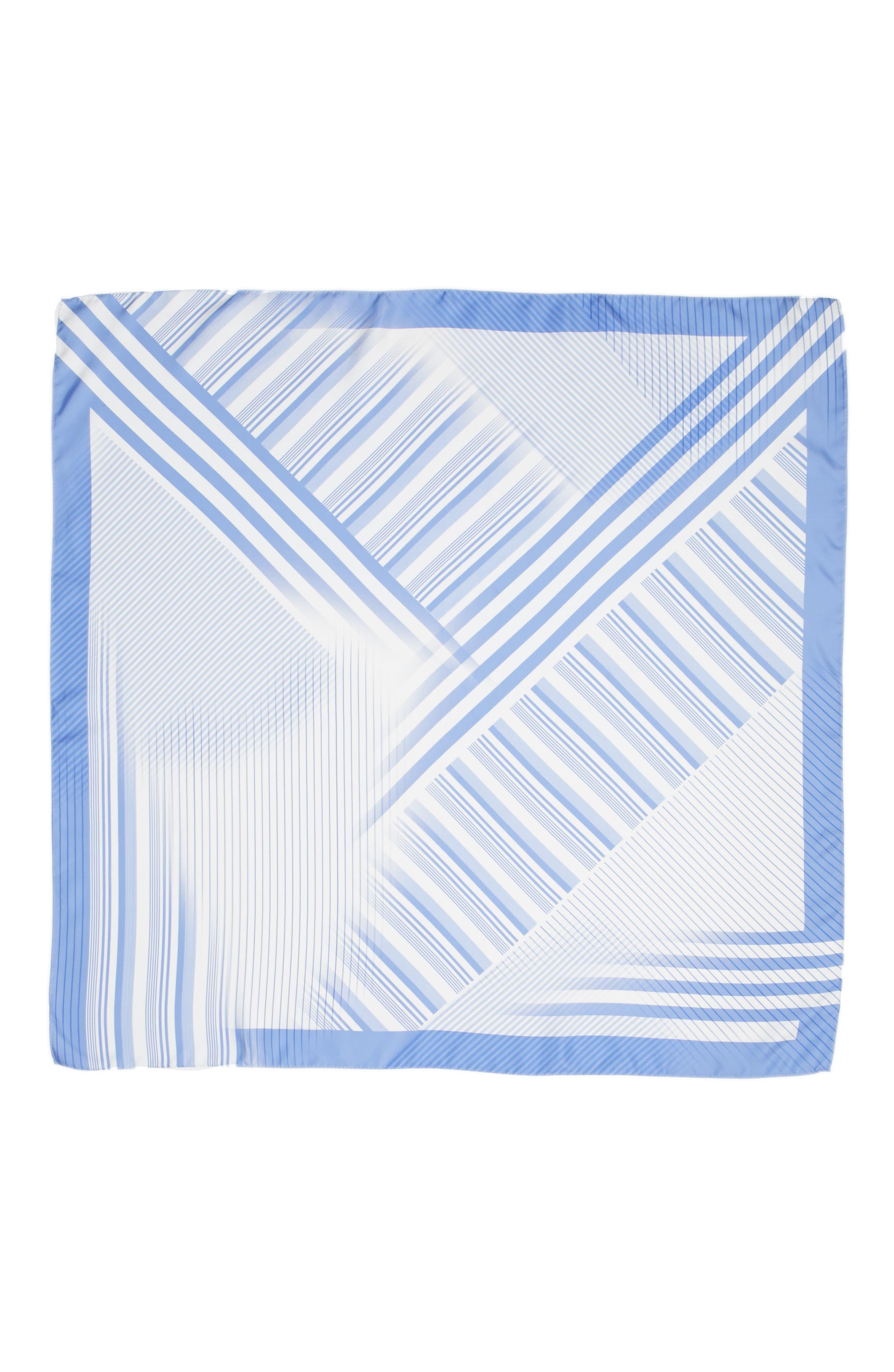 Lafayette 148 New York Stripe Silk Twill Scarf