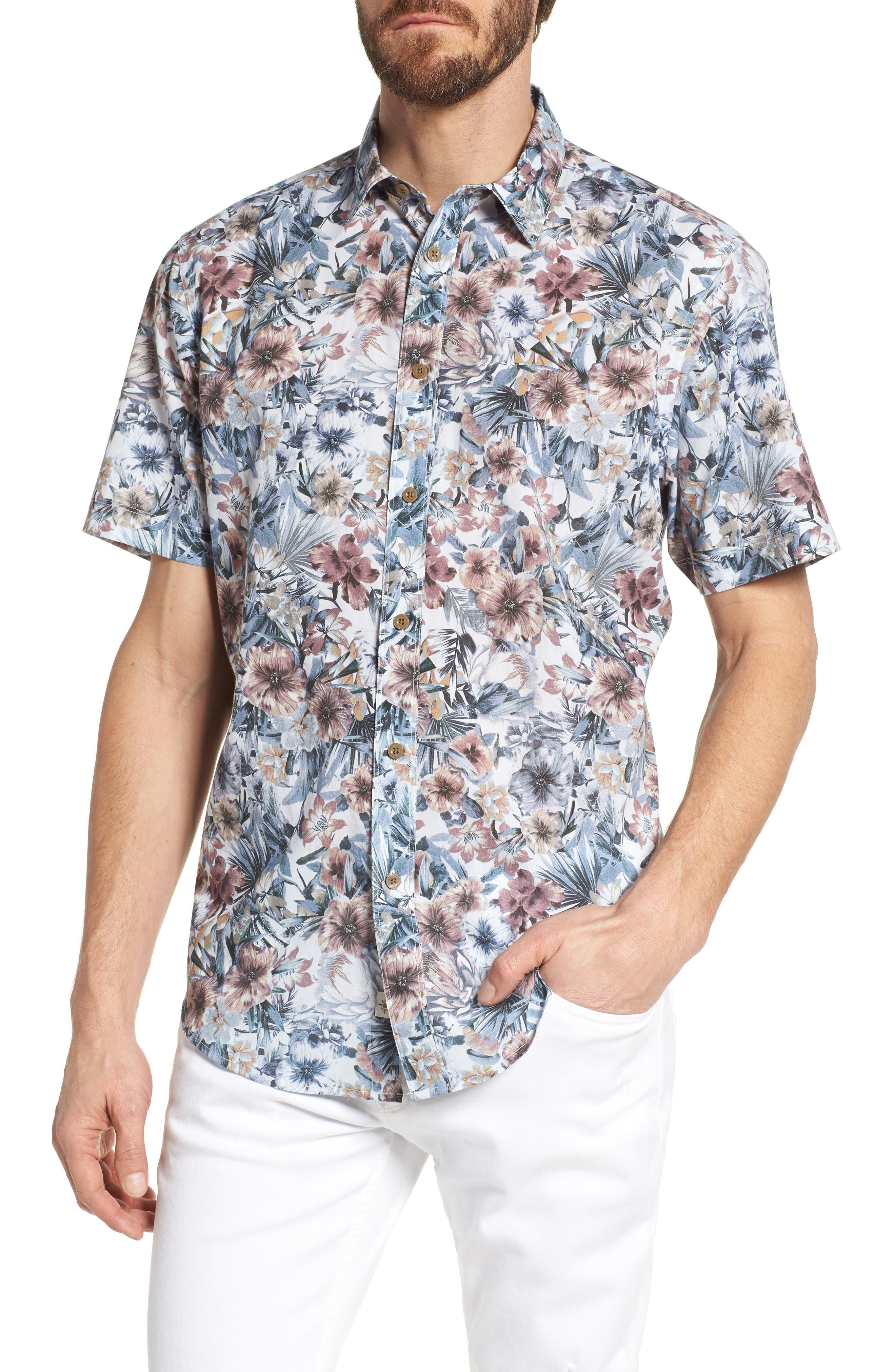 Coastaoro Tropas Regular Fit Print Short Sleeve Sport Shirt