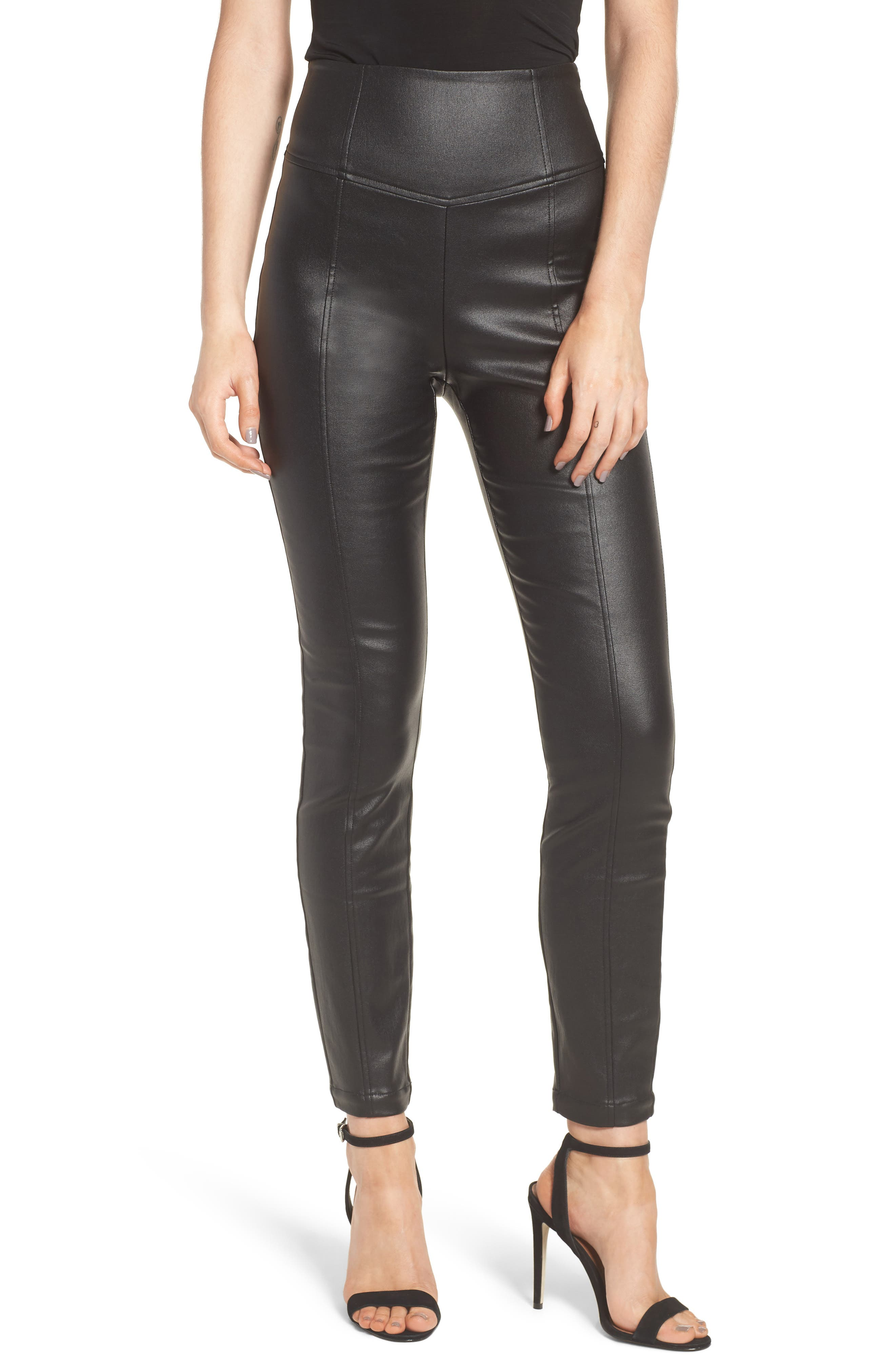 LOST INK High Waist Coated Leggings