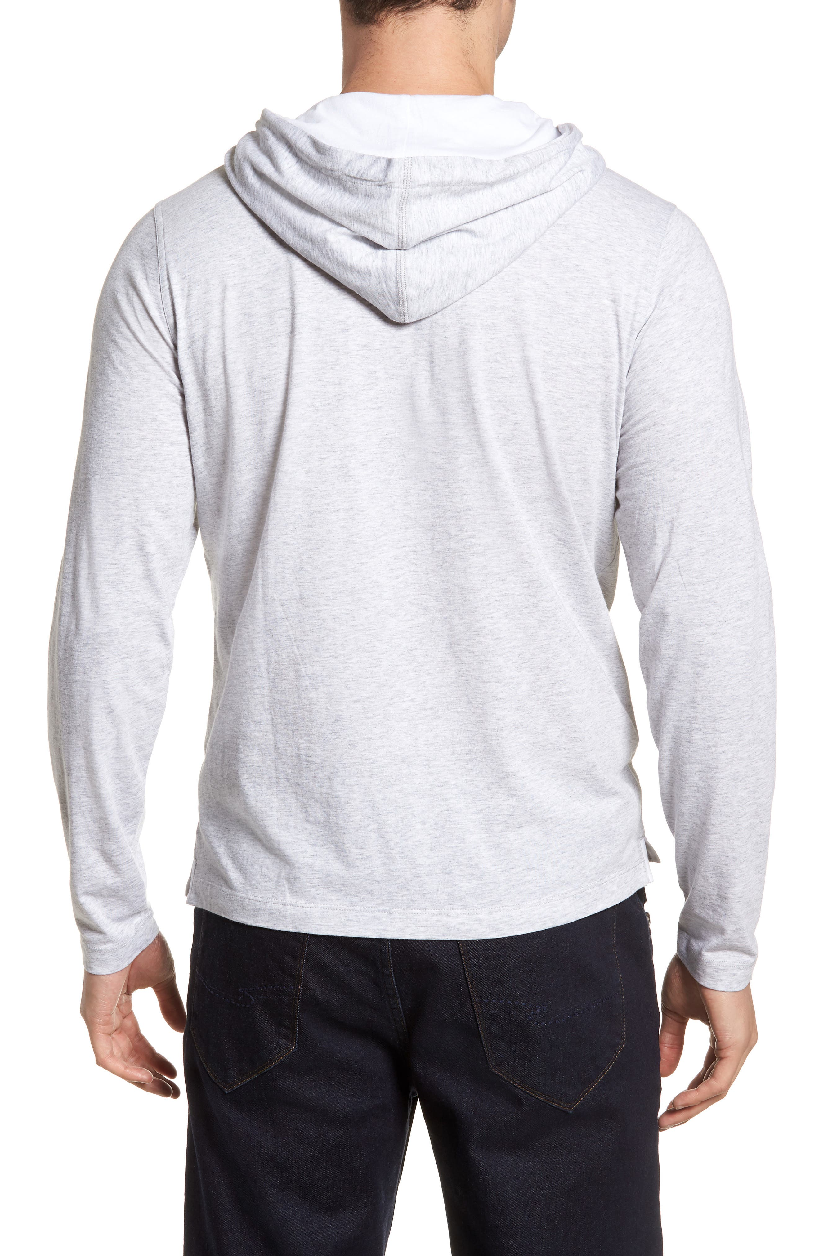 Carl Pullover Hoodie,                             Alternate thumbnail 2, color,                             Dove Grey